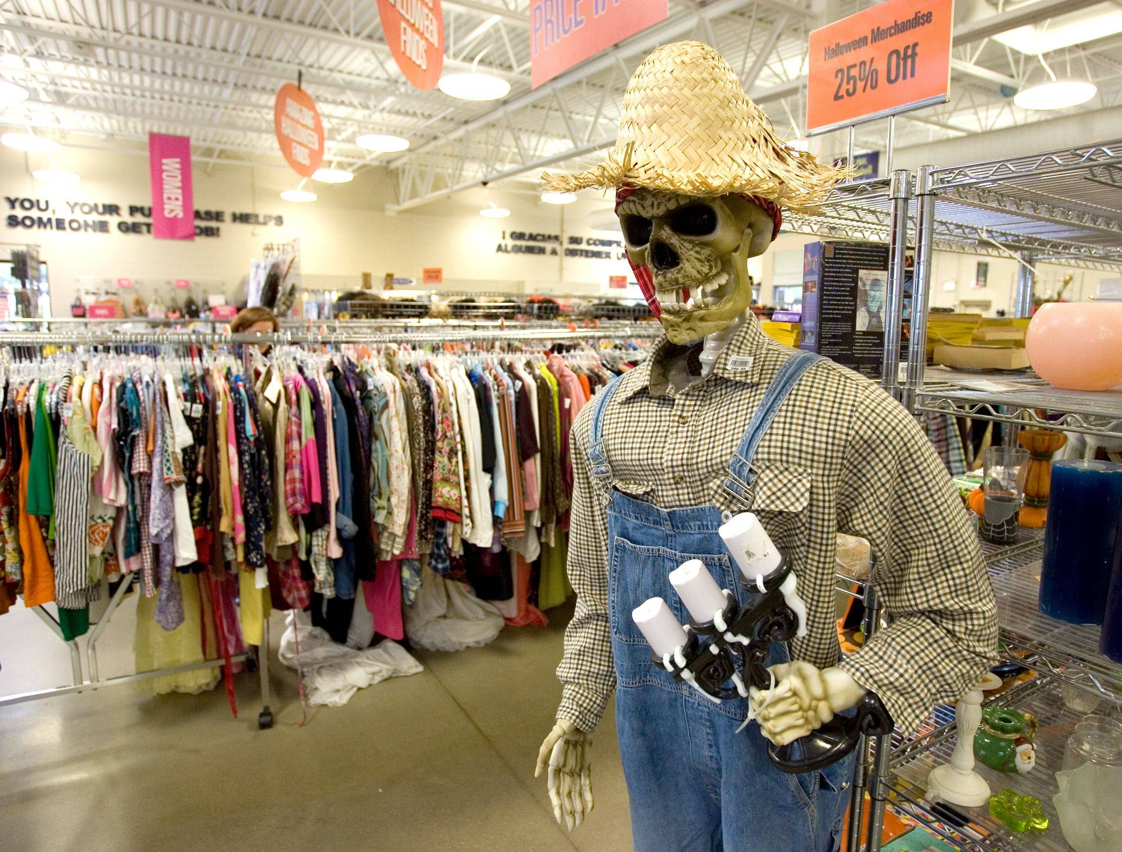Halloween decorations abound at the Goodwill store on North Avenue in Glendale Heights.