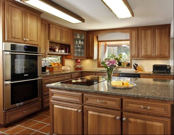Abe Abuchowski's kitchen in Califon, N.J., after the cabinets were refaced.