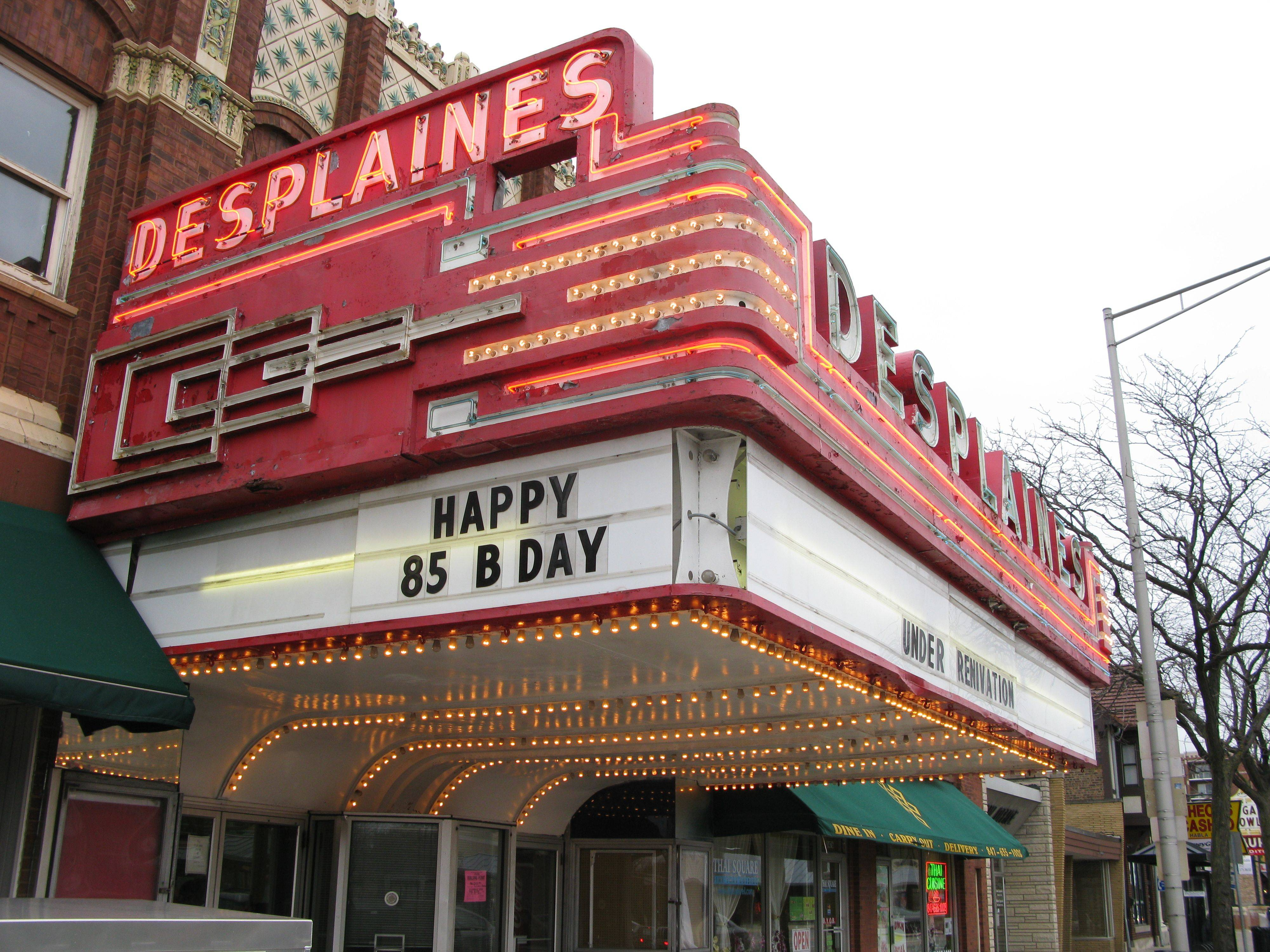 The historic downtown Des Plaines Theatre celebrated its 85th anniversary in 2010. The theater is being restored and is set to reopen Nov. 11.