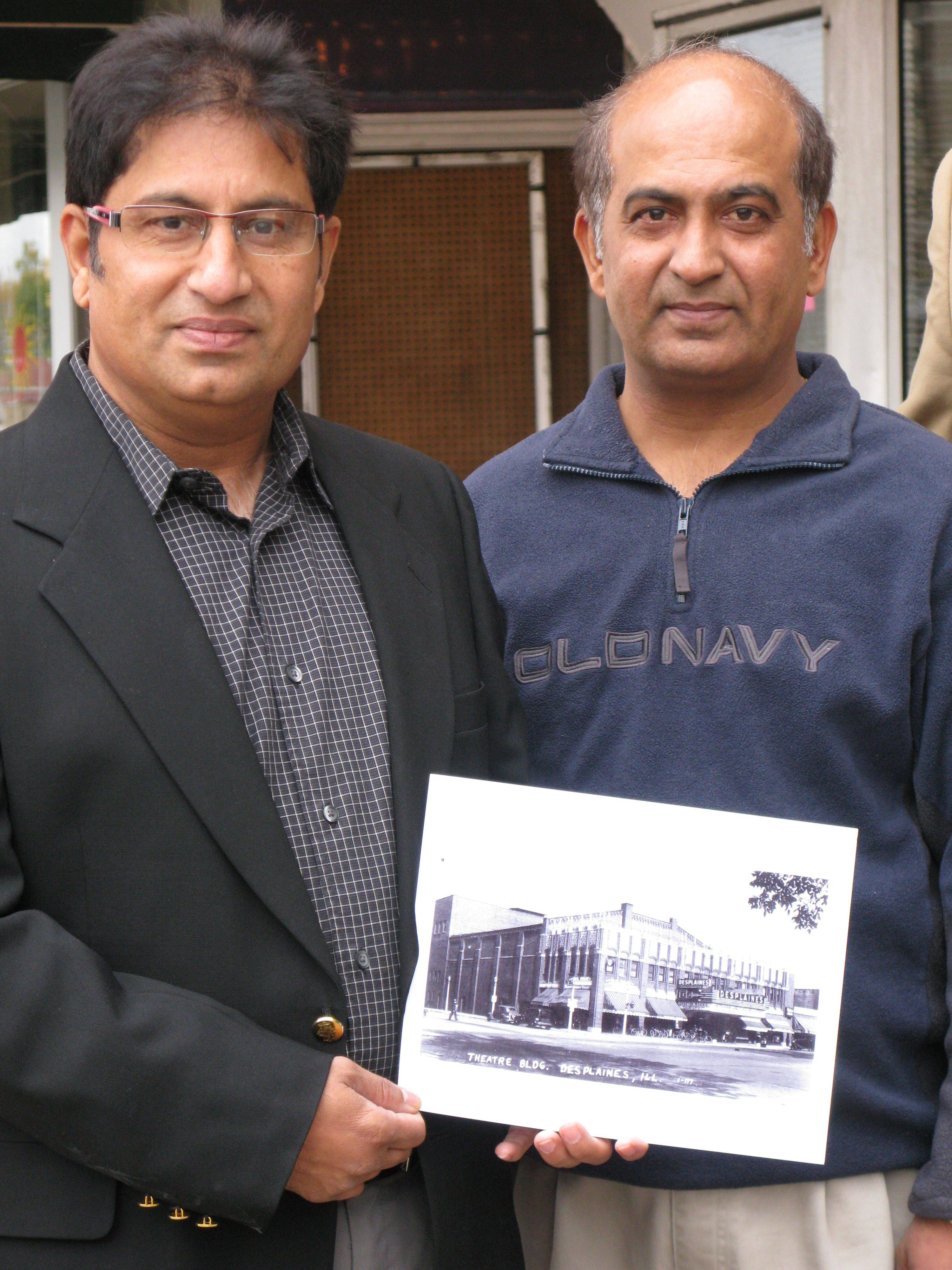 Dhitu Bhagwakar and brother Dharmesh, owners of the Des Plaines Theatre in downtown, announced the start of the renovation project in November 2009.