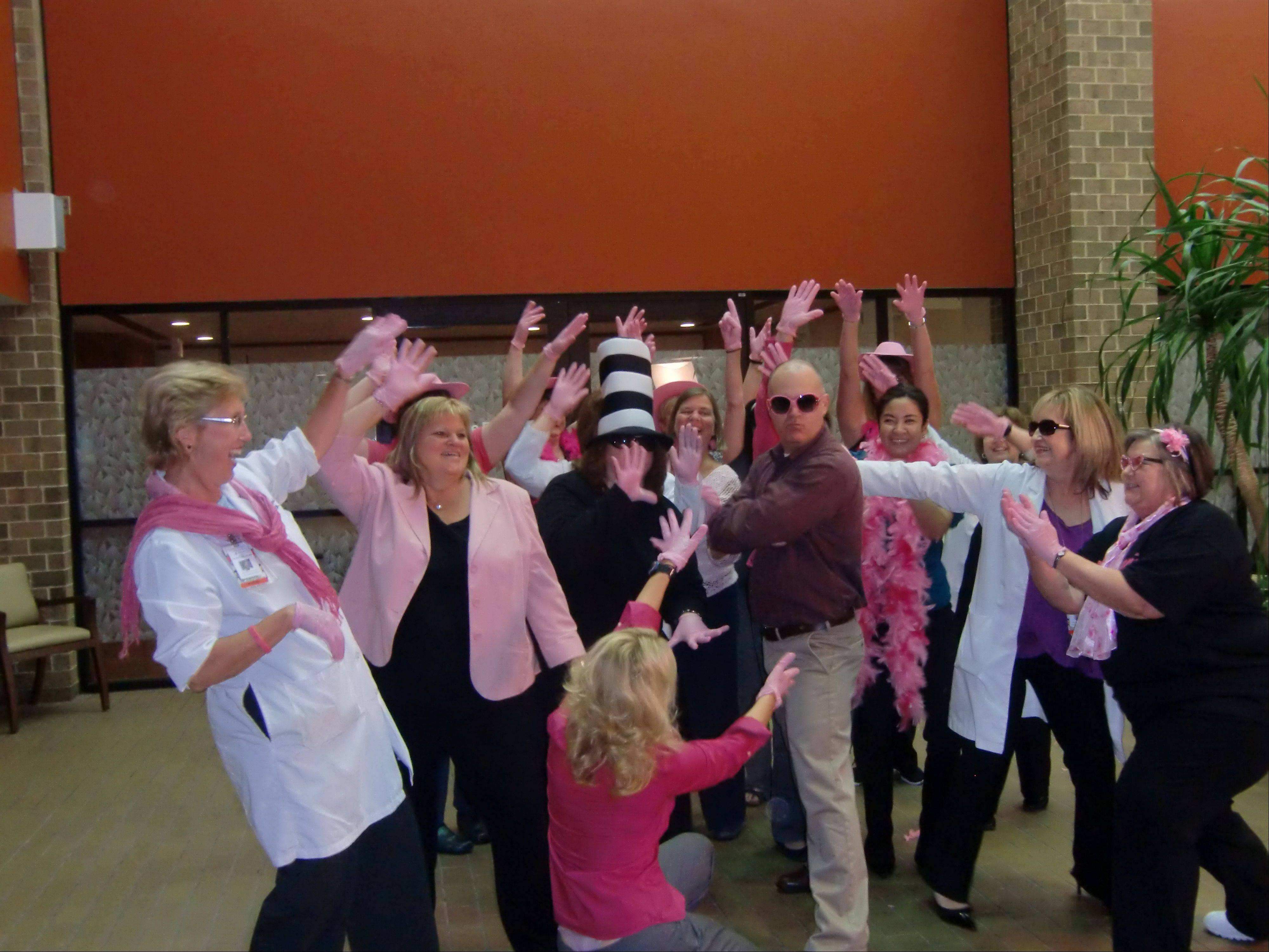 Hundreds of associates took a few minutes out of their day to participate in the Pink Glove video.