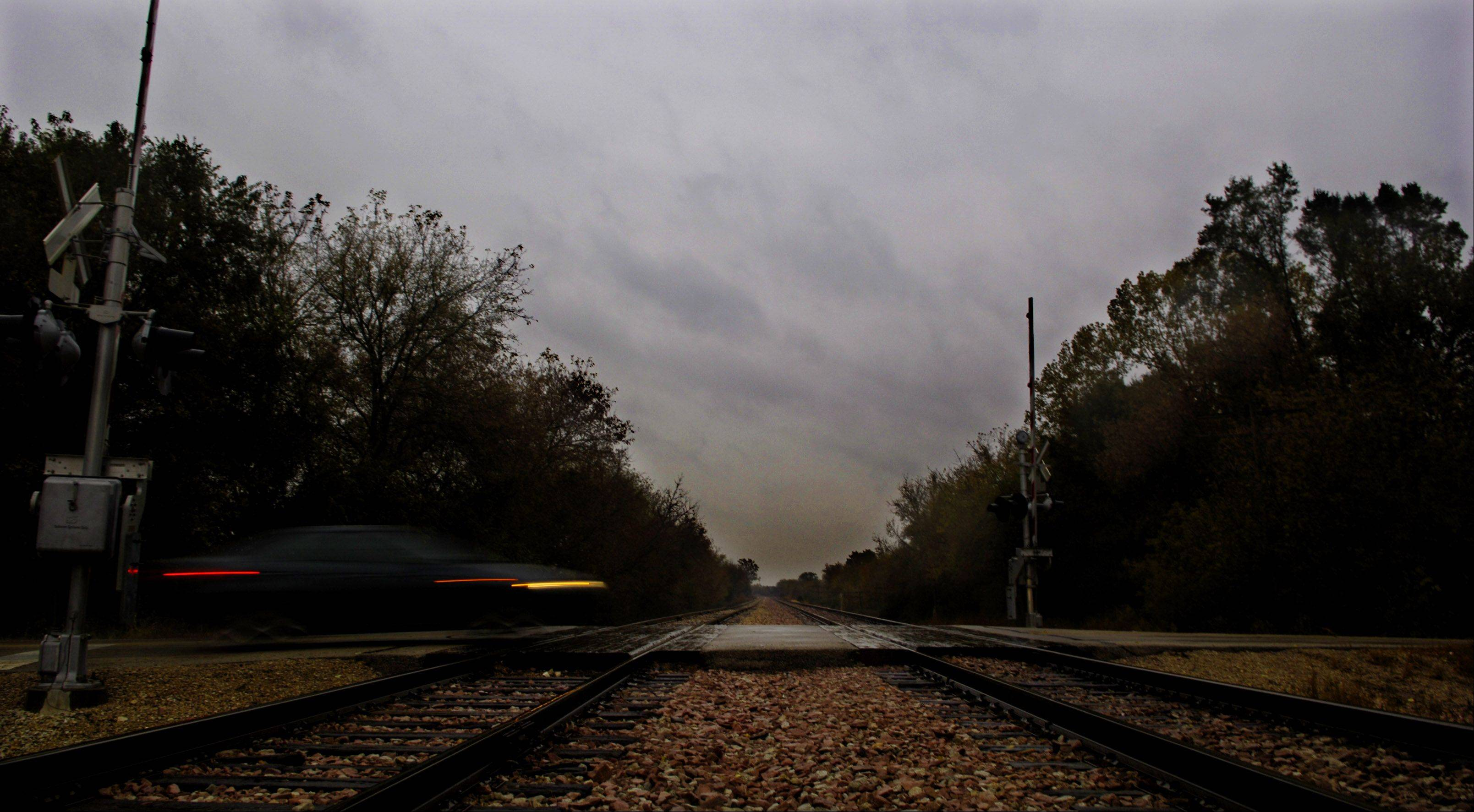 The Munger Road railroad crossing is supposedly haunted.