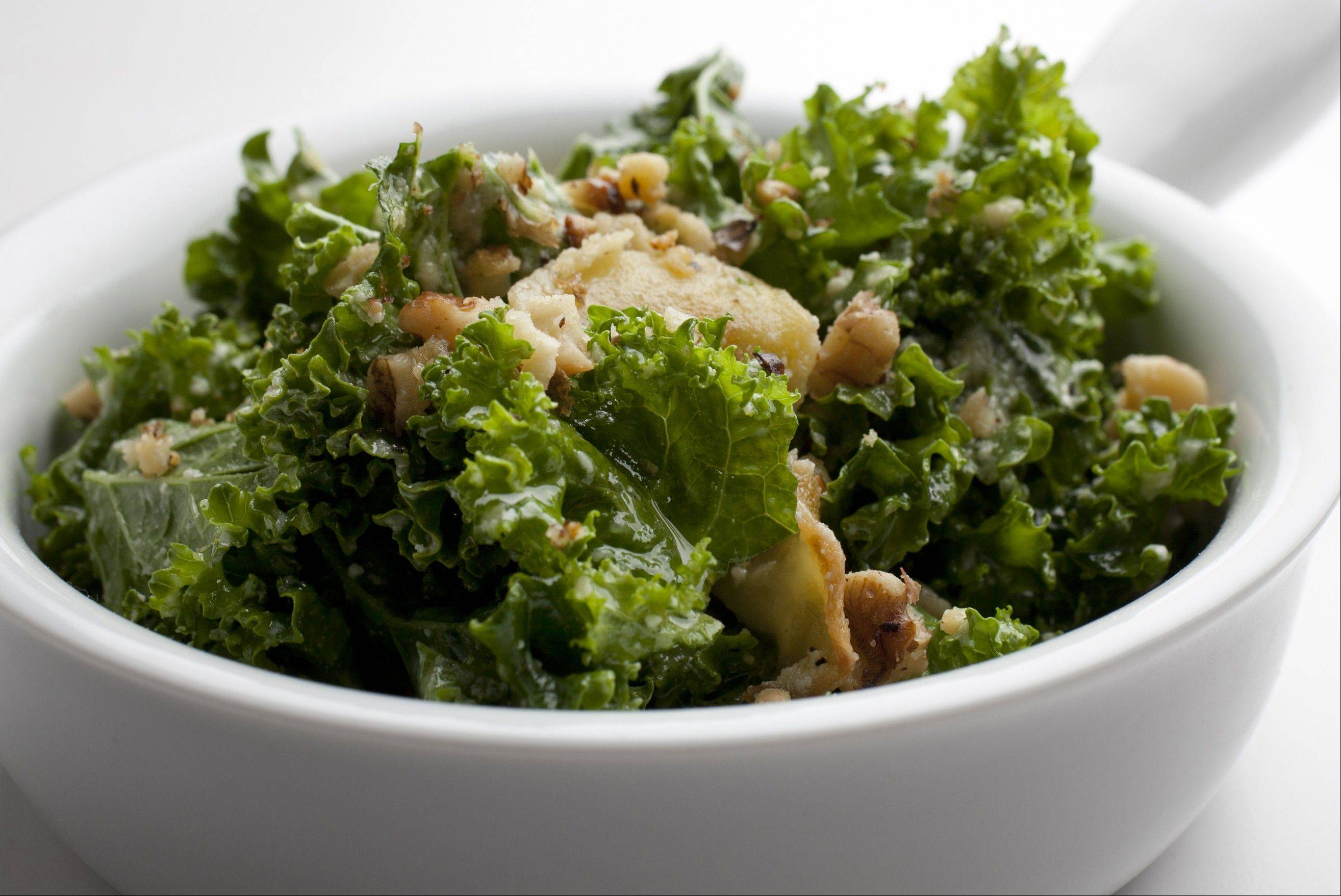 Marlow & Sons Tuscan kale salad. Illustrates FOOD-BOOK (category d), by Bonnie S. Benwick (c) 2011, The Washington Post. Moved Monday, Oct. 17, 2011. (MUST CREDIT: Photo for The Washington Post by Deb Lindsey.)
