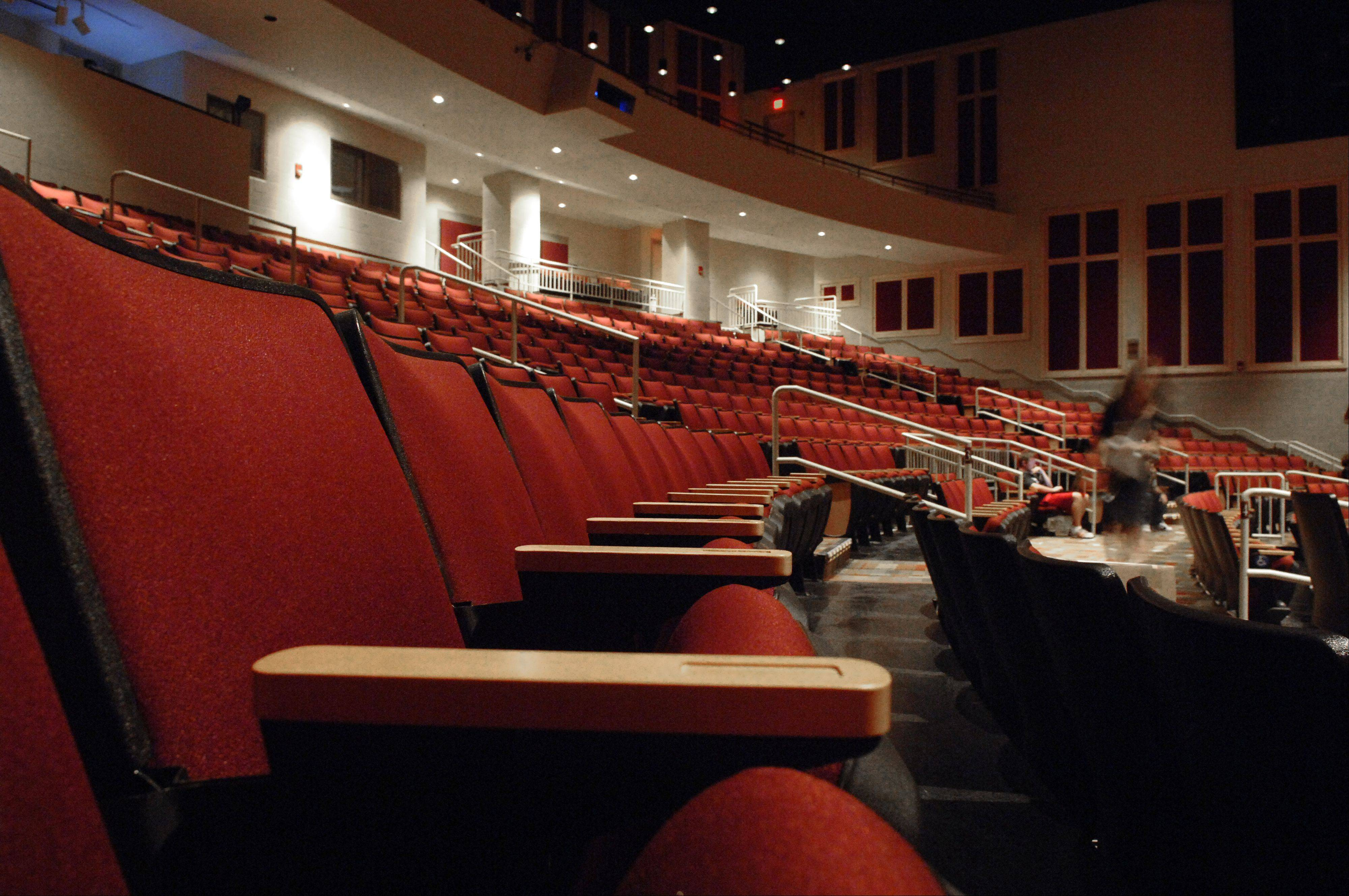 Audiences are sure to enjoy comfortable seating in the auditorium of the Batavia Fine Arts Centre.
