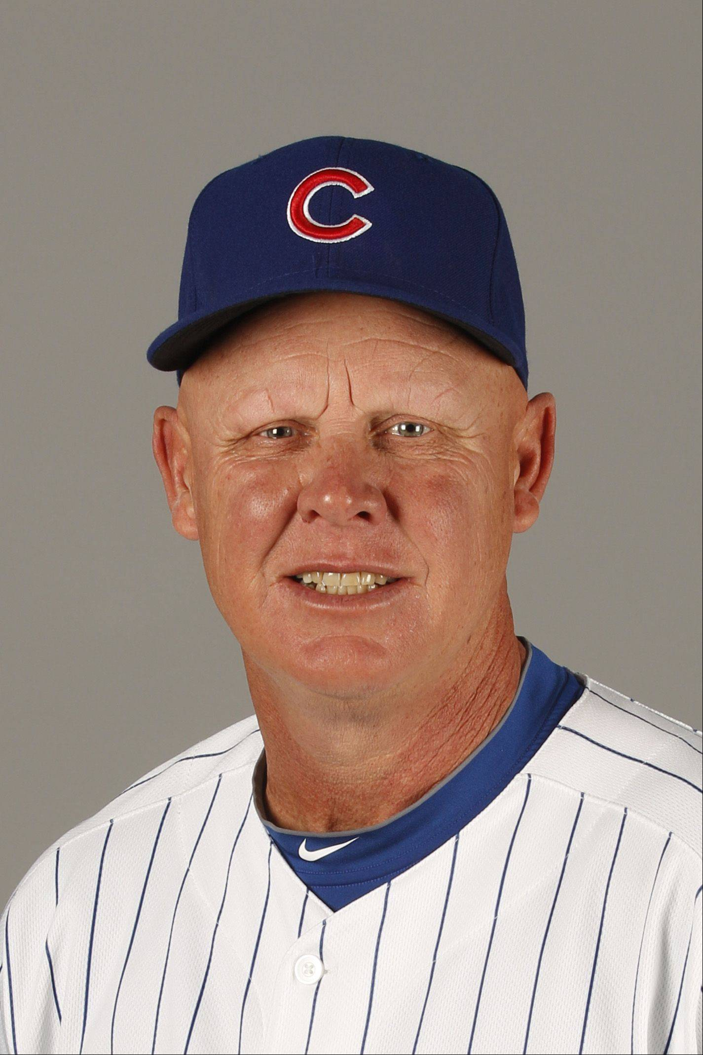 This is a 2011 photo of manager Mike Quade of the Chicago Cubs baseball team.