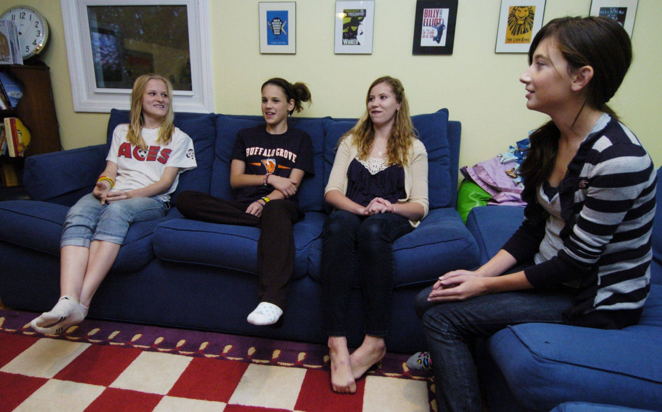 Buffalo Grove High School students Emily Davidson, from left, Kate Schneider, Sarah Naughton and Jessica Sparacino talk about the reality TV shows they watch.