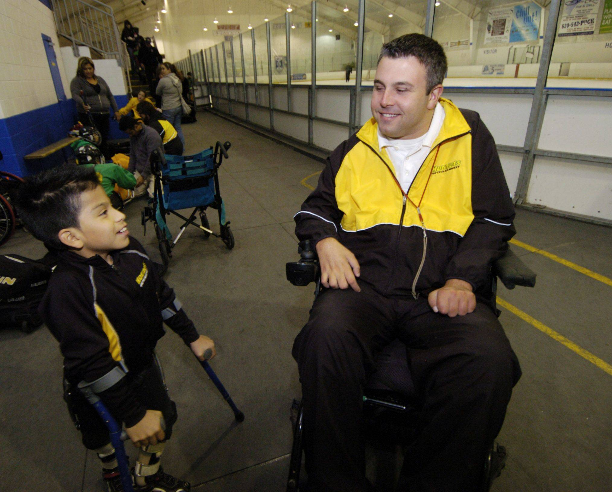 Disabled Mt. Prospect hockey leader celebrates 16 years in wheelchair