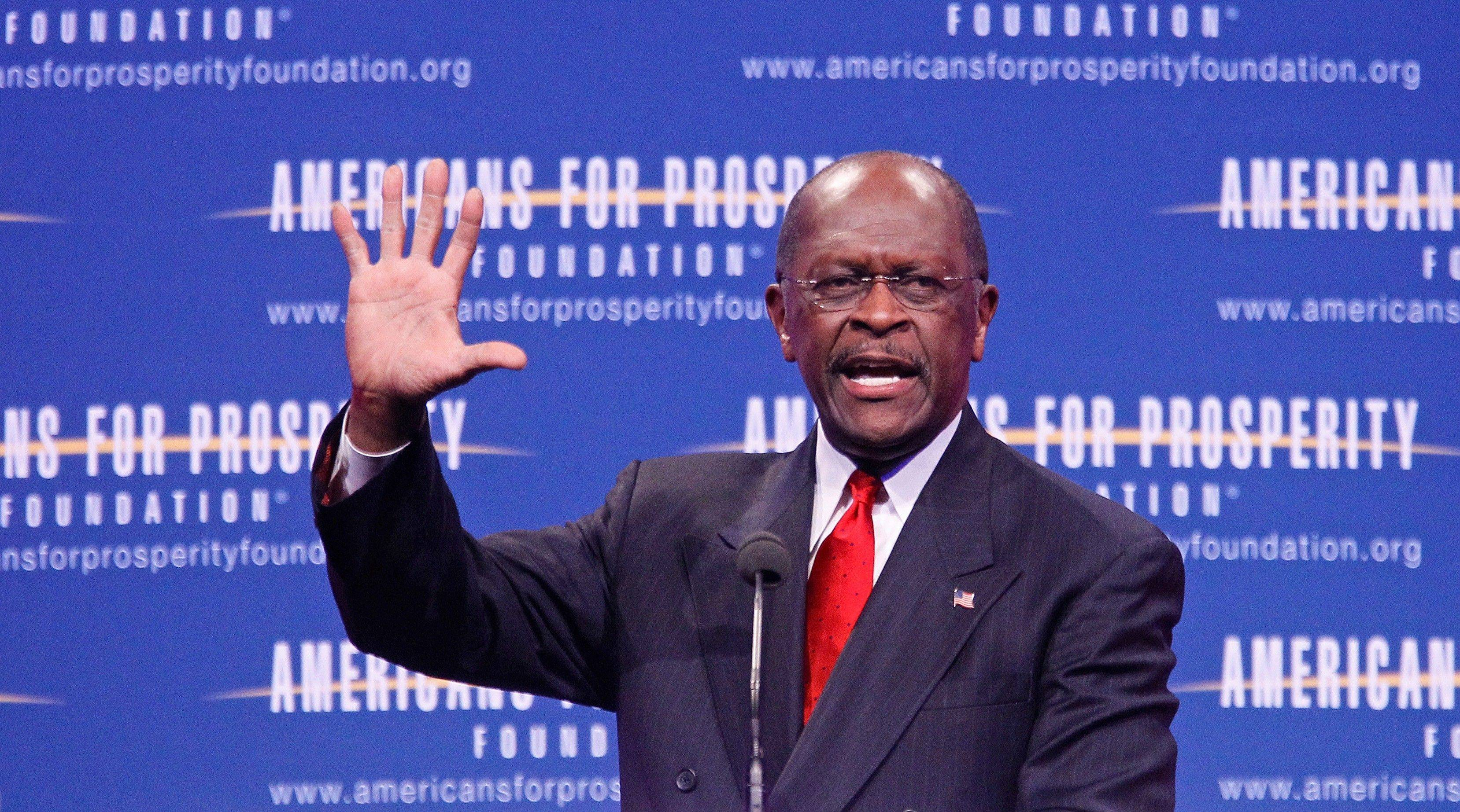 Cain says he won't answer harassment questions