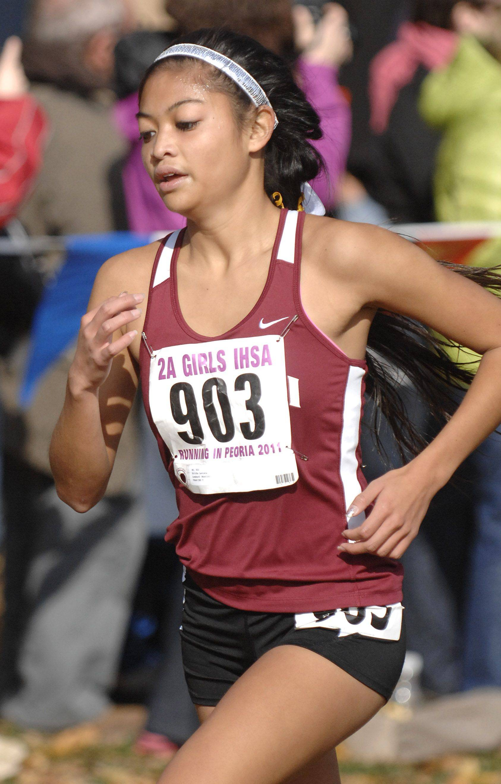 Montini's Ericka Laviste took 5th place with a time of 17:25 in the 2A state cross country final.
