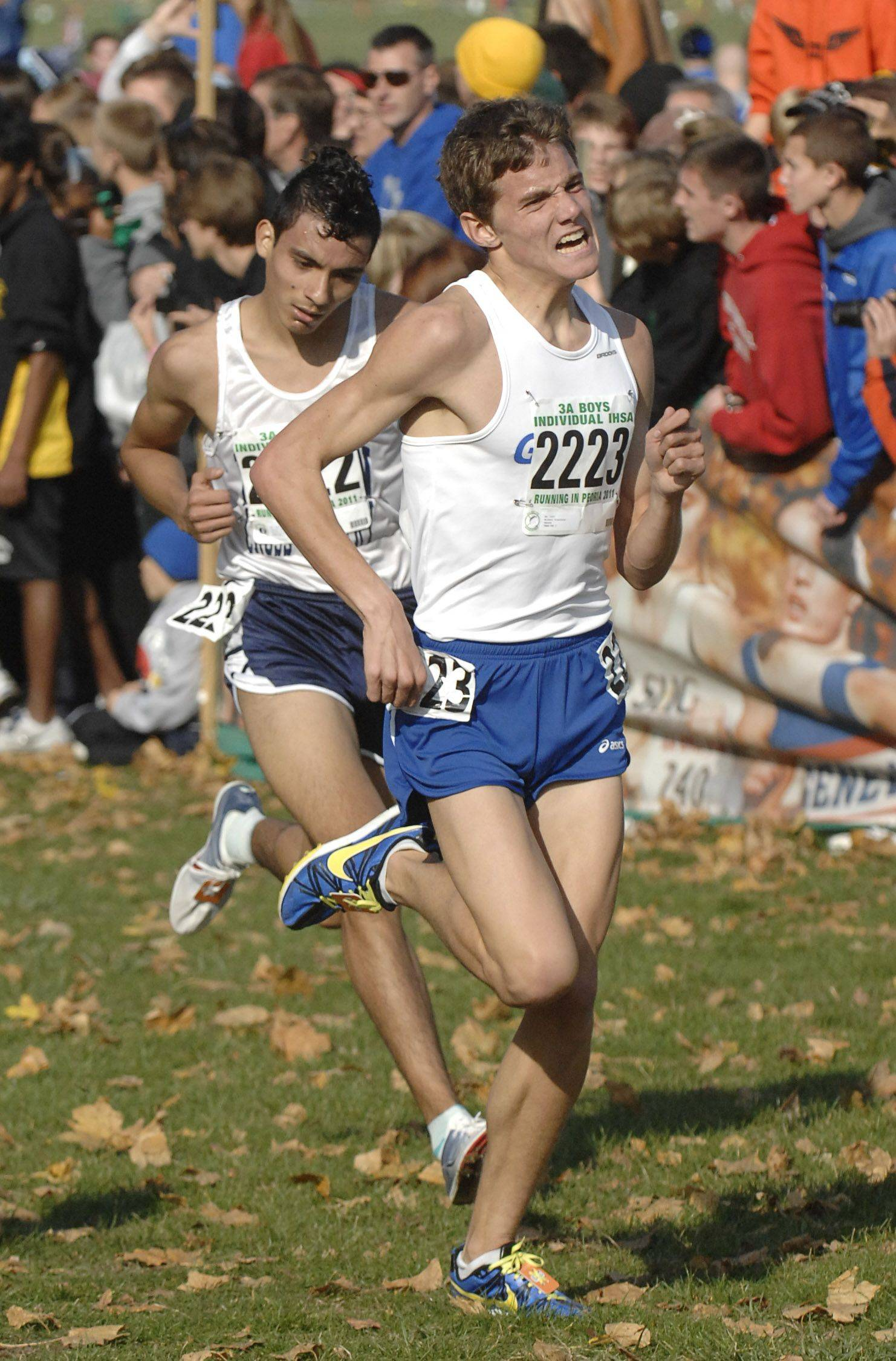 Geneva's Michael Bianchina finishes in 42nd place in the 3A state cross country final.