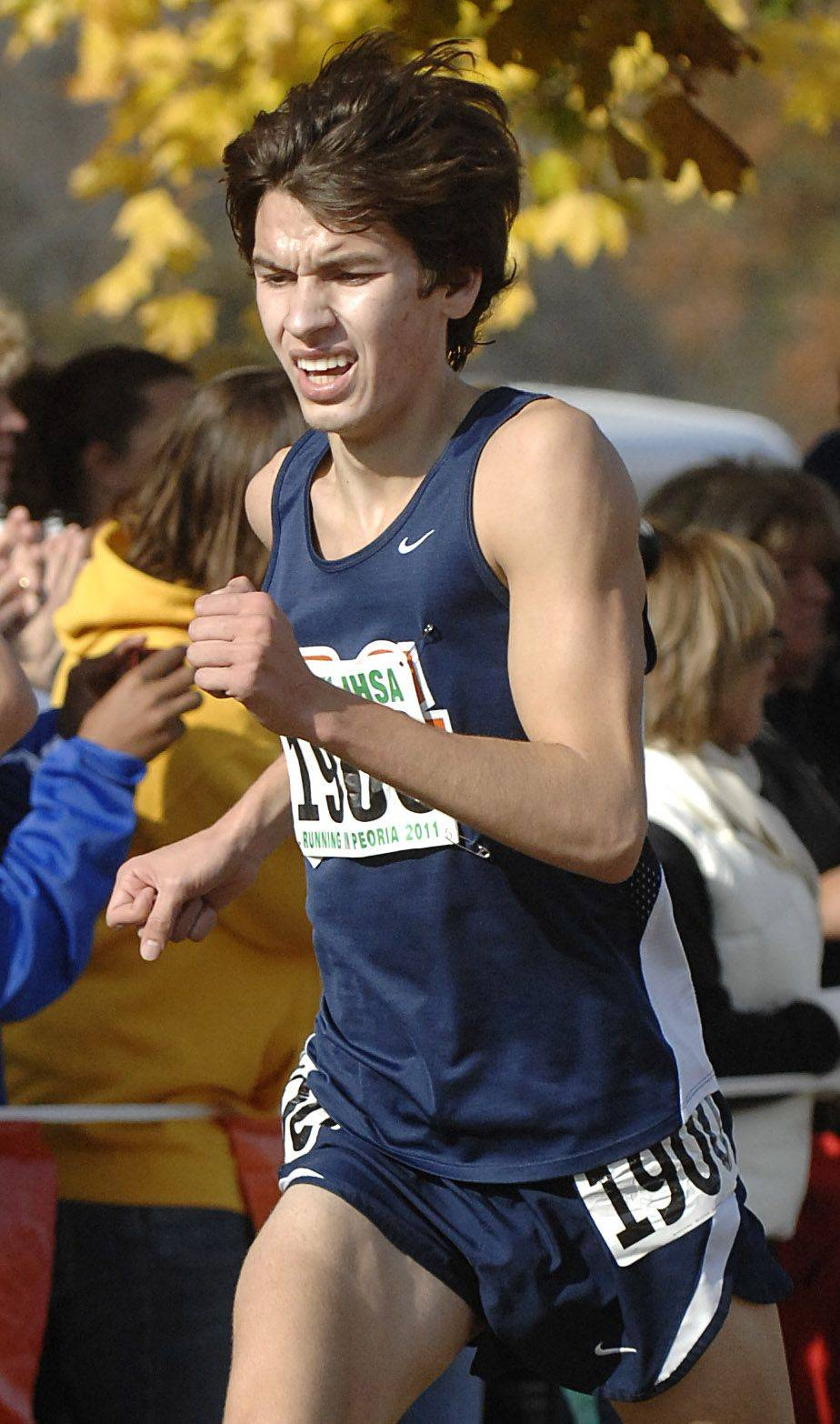 Buffalo Grove's Jereme Atchison takes 5th place in the 3A state cross country final.