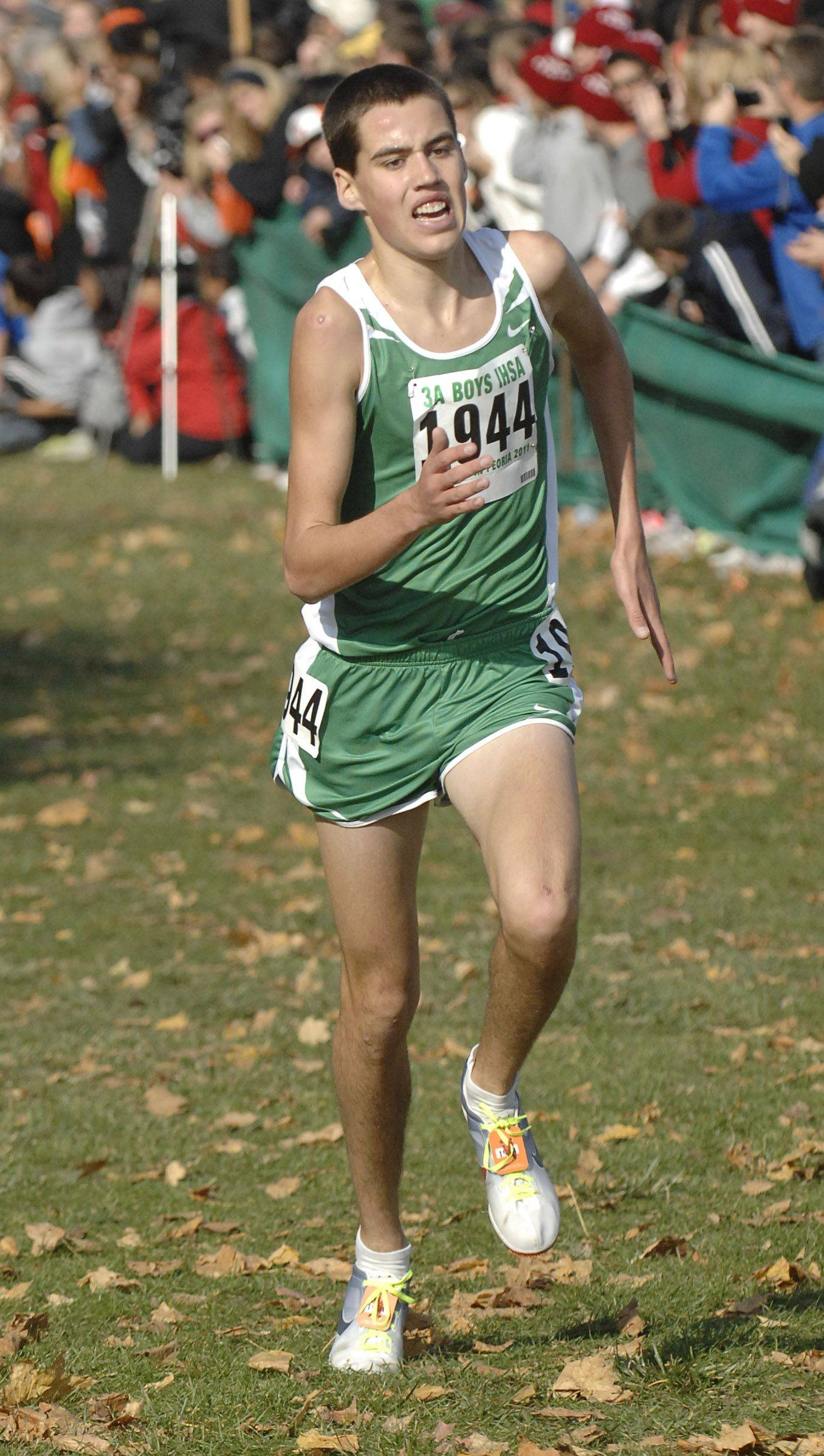 York's Scott Milling comes in 15th place in the 3A state cross country final.