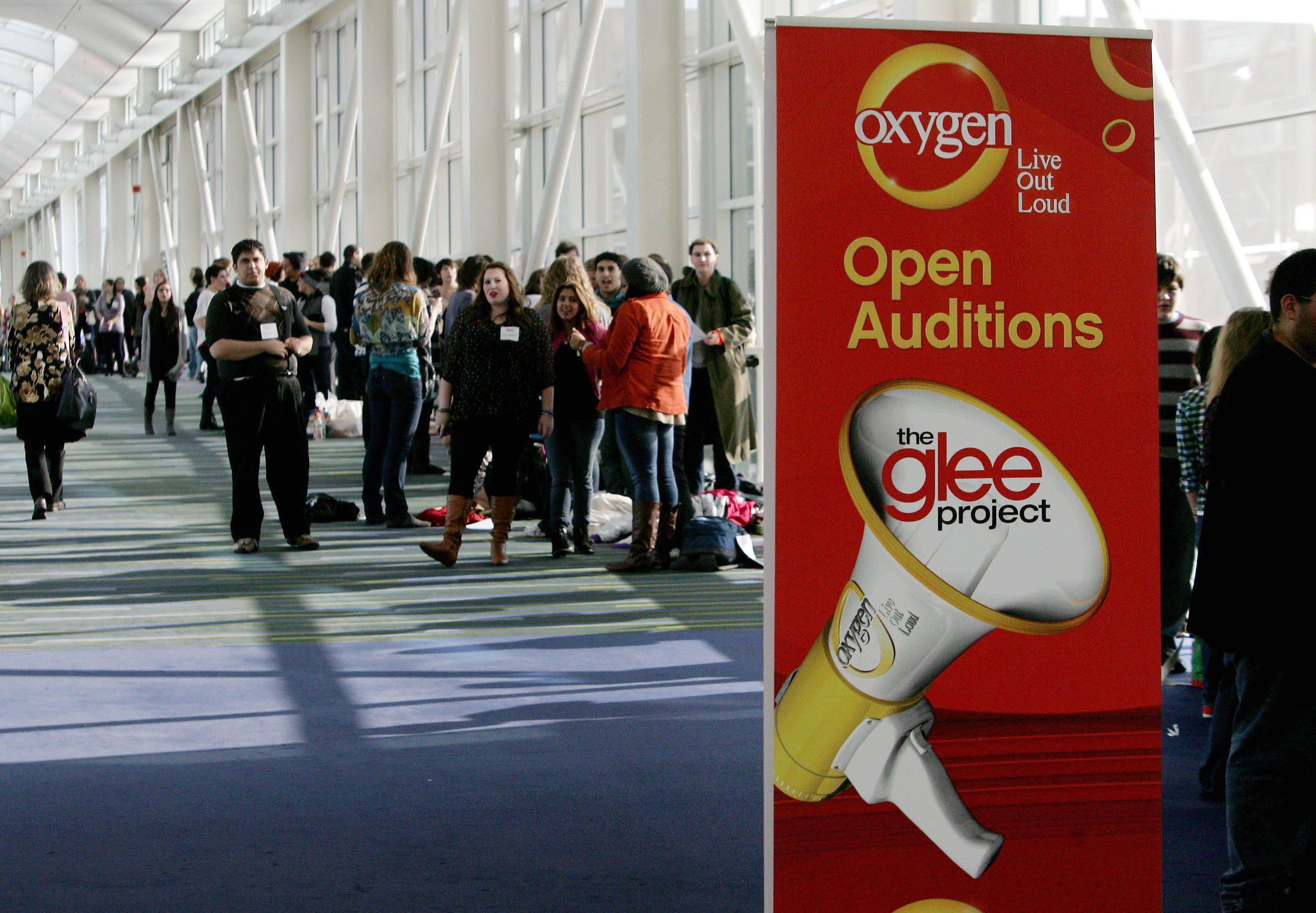 "Tryouts for the reality series ""The Glee Project"" Sunday at McCormick Place in Chicago. The competition offers contestants a chance to win a part on the award winning FOX television show ""Glee."""
