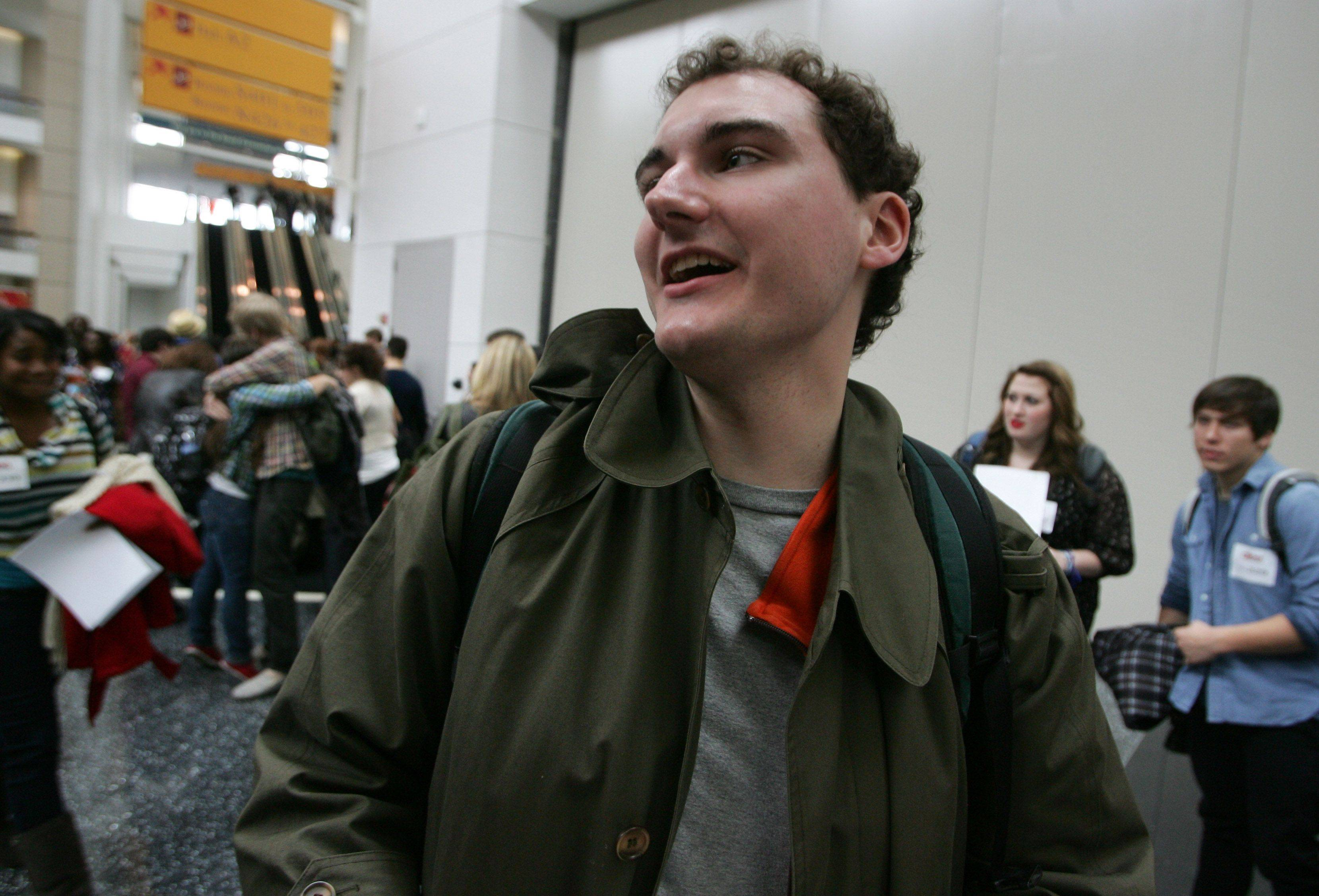"Neal Heatherly of Palatine waits with the crowd before tryouts for the reality series ""The Glee Project"" Sunday at McCormick Place in Chicago. The competition offers contestants a chance to win a part on the award winning FOX television show ""Glee."""
