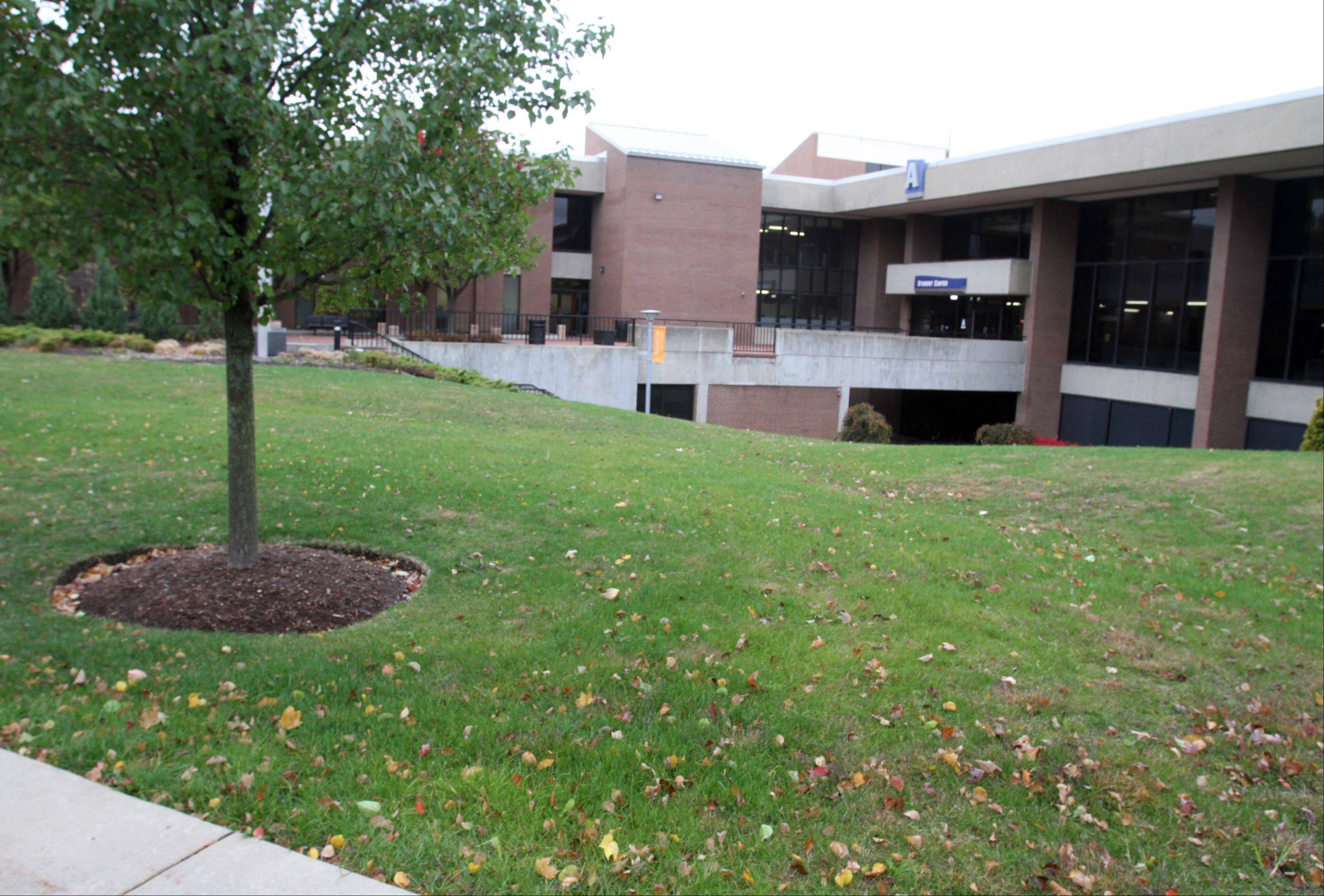 A Campus Life Building is planned for this vacant spot on Harper College's campus near Buildings A and K. The facility would combine admissions, financial aid, tutoring and other student services.