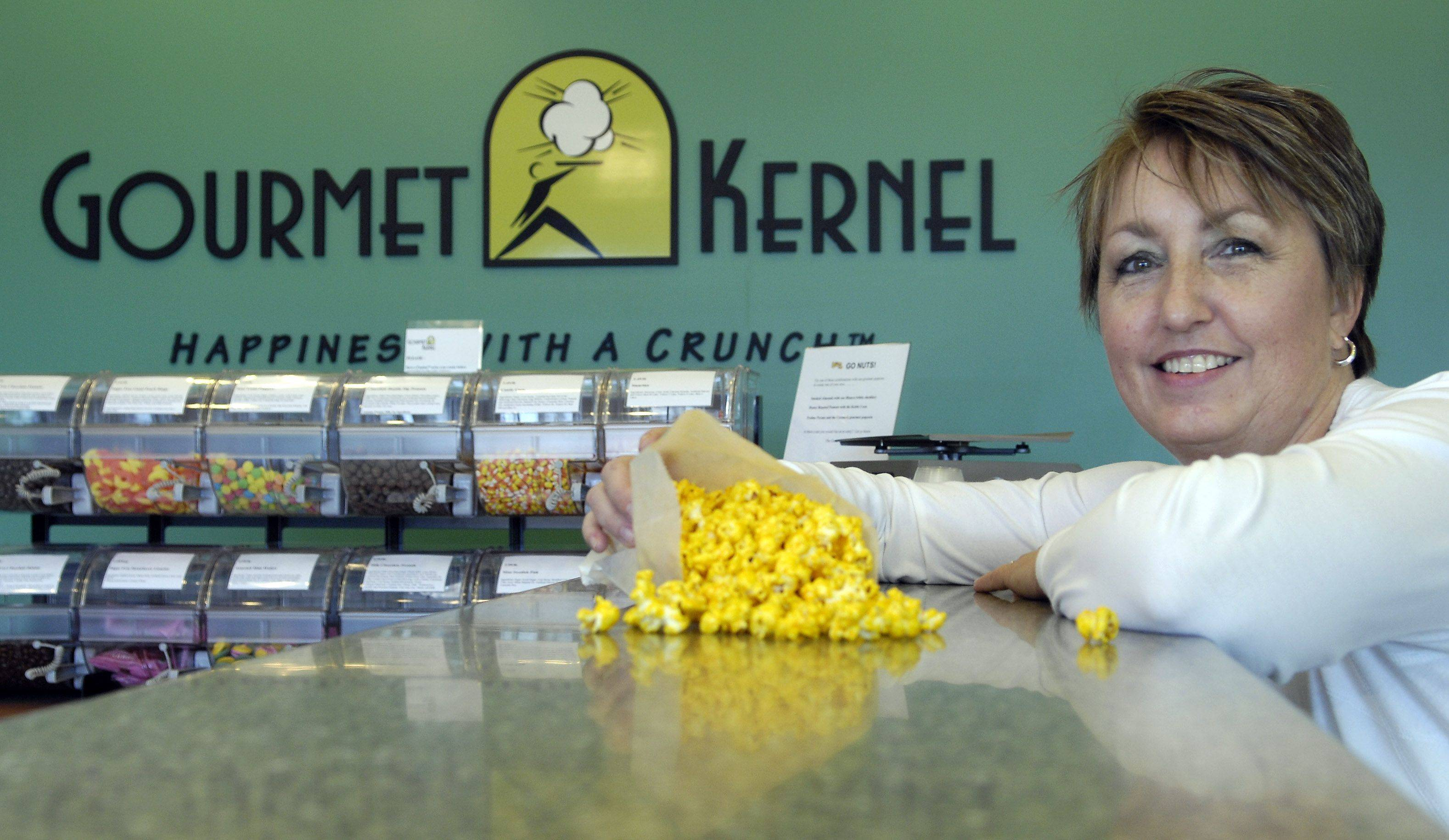 Judy Reyes recently opened Gourmet Kernel, a popcorn shop selling a variety of flavors, in Algonquin Commons.