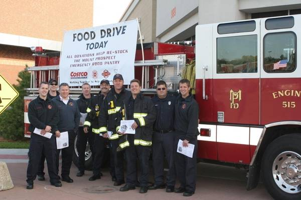 the mount prospect fire department and firefighters local 4119 will continue to collect nonperishable food items