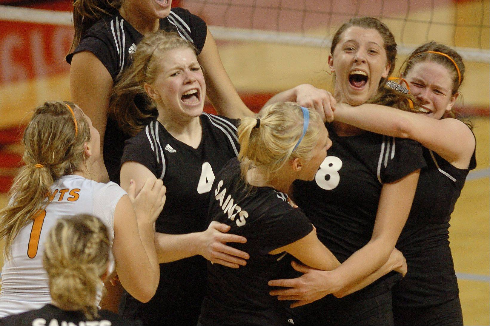 St. Charles East is hoping to bring home the Class 4A state volleyball championship this weekend.