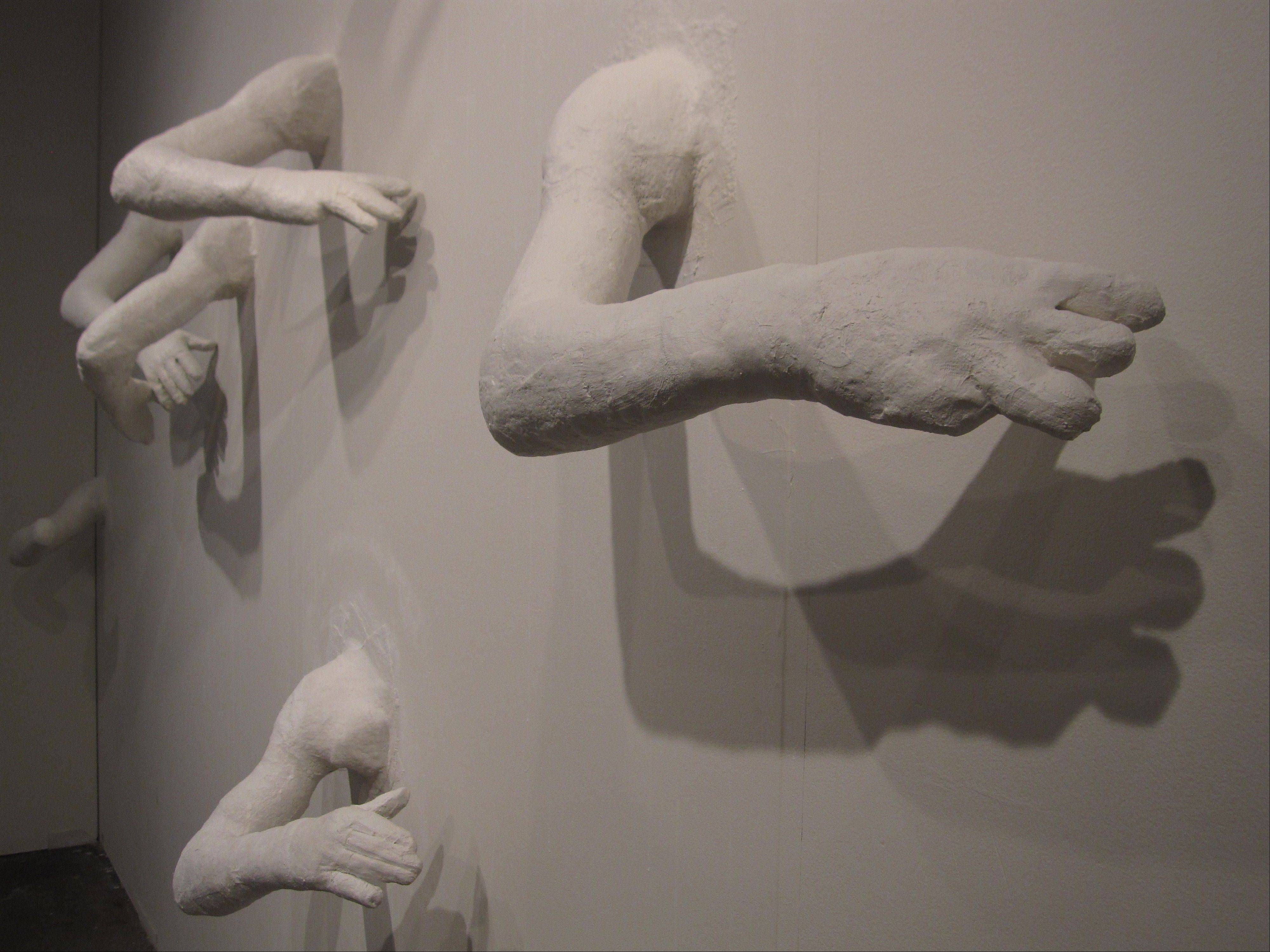 """They're Mine To Keep,"" a plaster installation piece by Army Reserves veteran Edgar Gonzalez Baeza, is part of the new ""Radical Vulnerability"" exhibit at the National Veterans Art Museum in Chicago."