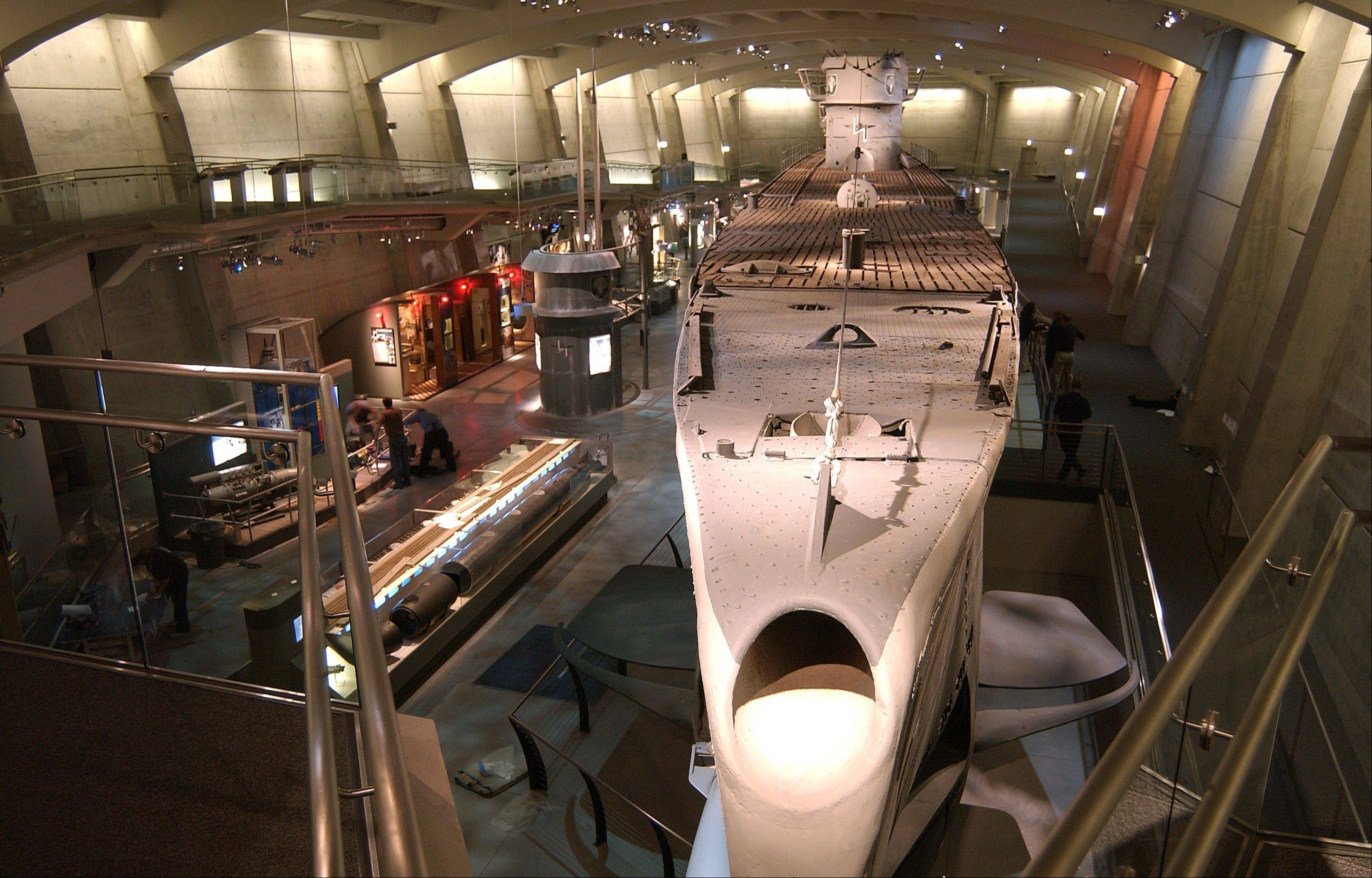 Guests can view the 35,000-square-foot U-505 submarine exhibit at the Museum of Science and Industry in Chicago.