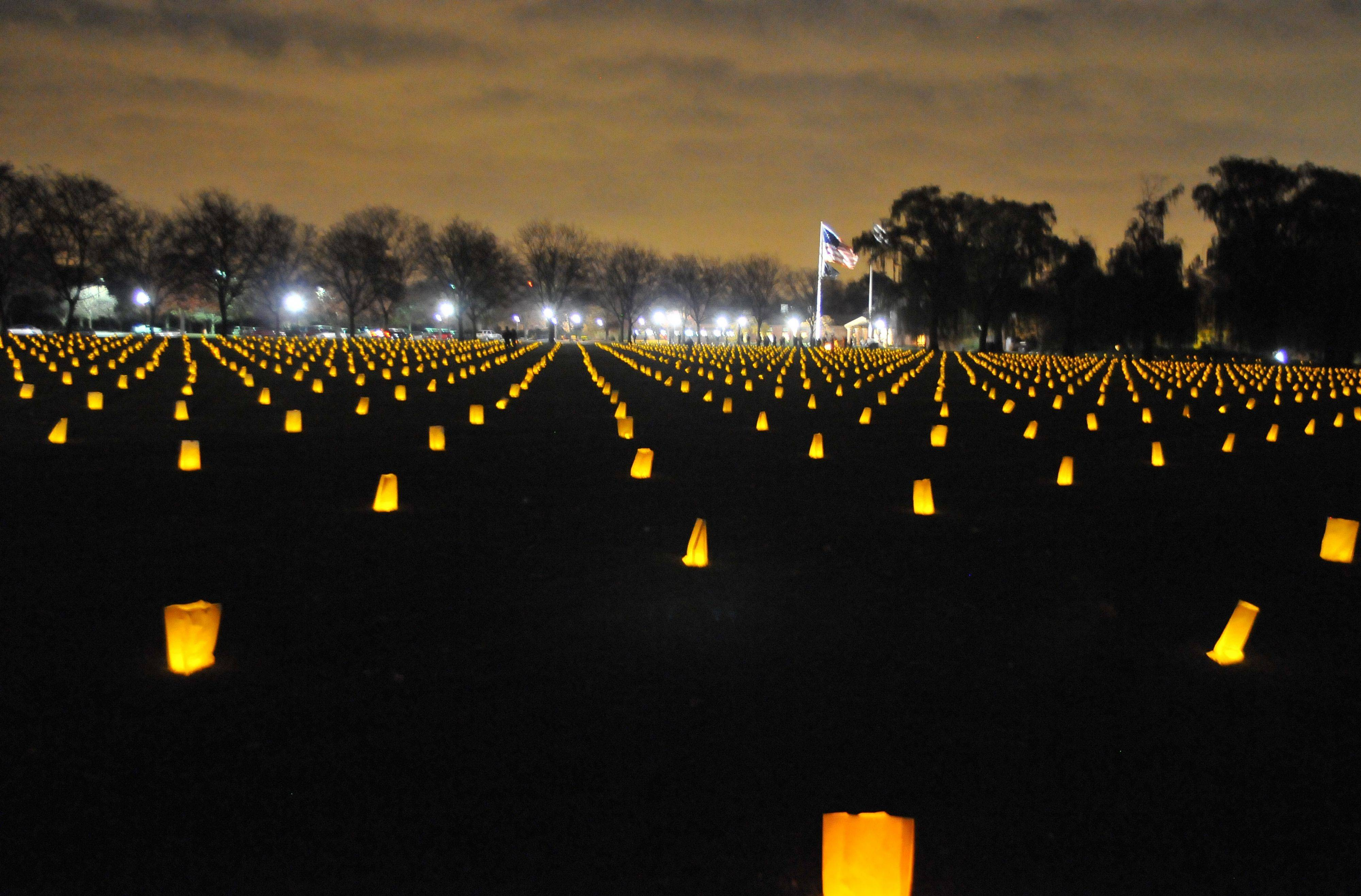 More than 2,000 candles in honor of U.S. veterans will light up the night on Friday, Nov. 11, at Cantigny Park and the First Division Museum at the annual Luminary Tribute.