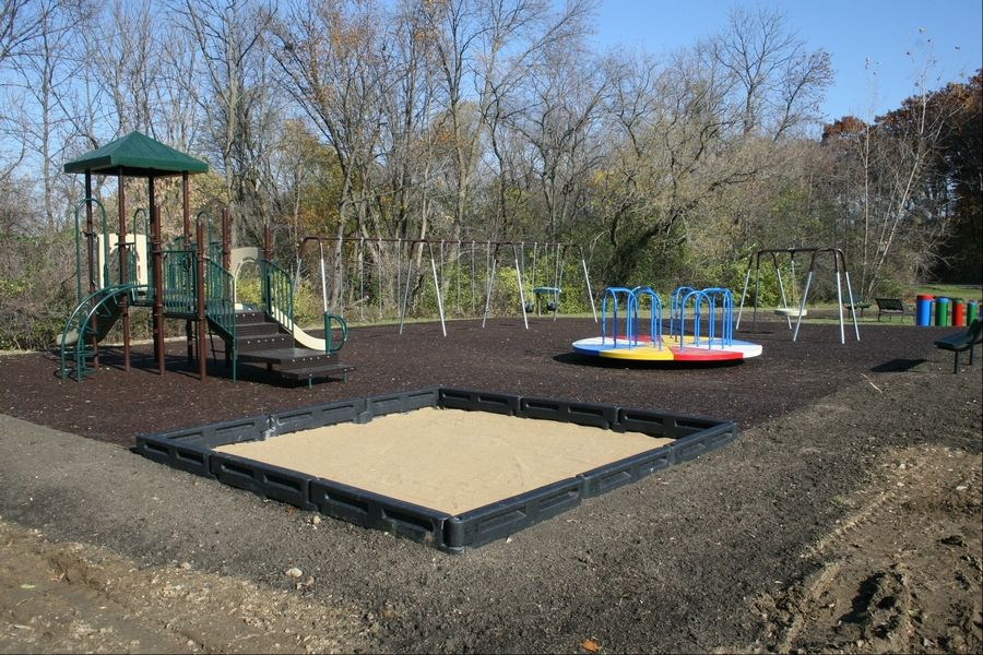 The new playground sanctuary for Maryville Academy's residential homes in Bartlett was built, in part, with a large donation from an anonymous donor.