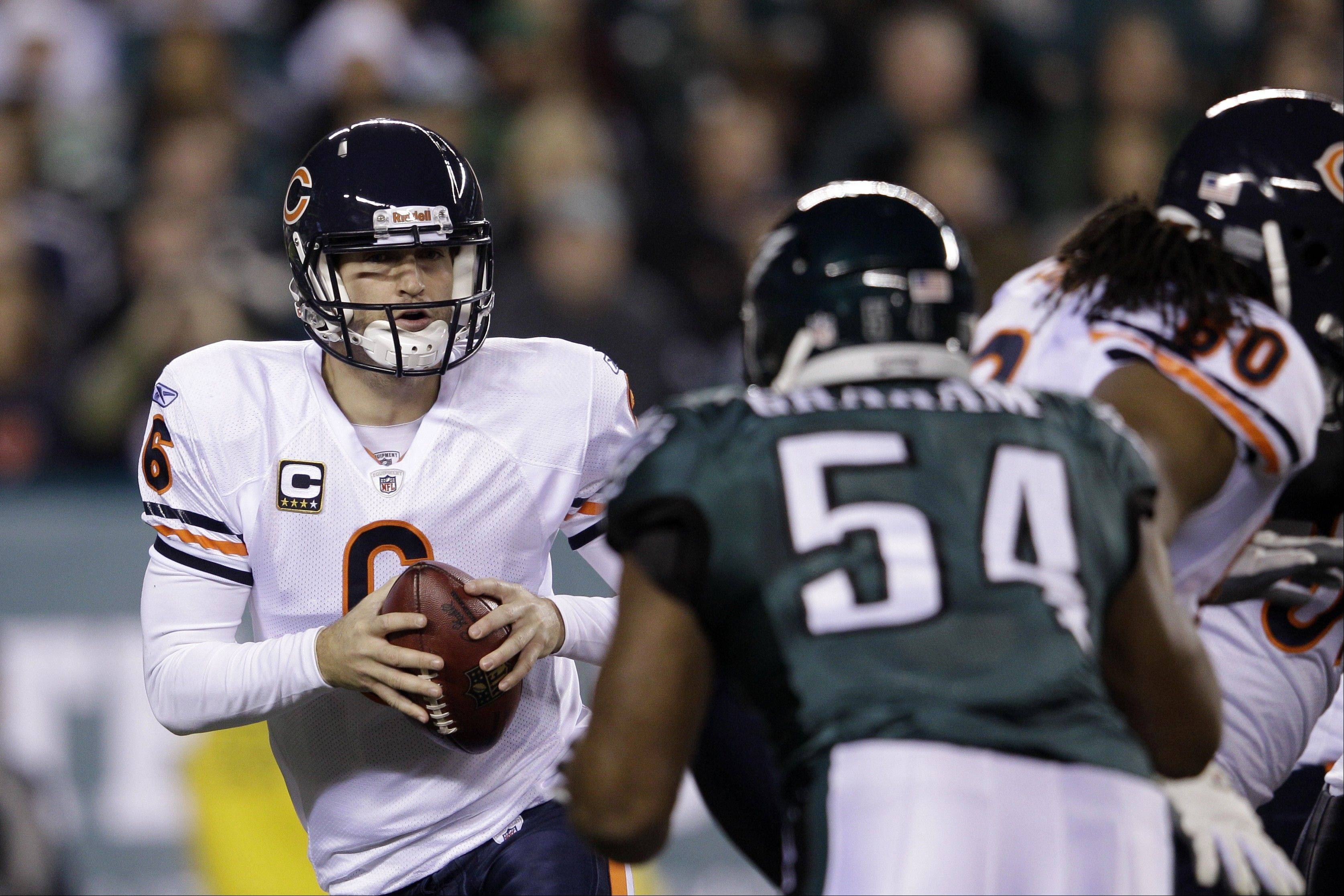 This week Bears quarterback Jay Cutler has scored a lot of points on and off the field, says Mike Spellman.