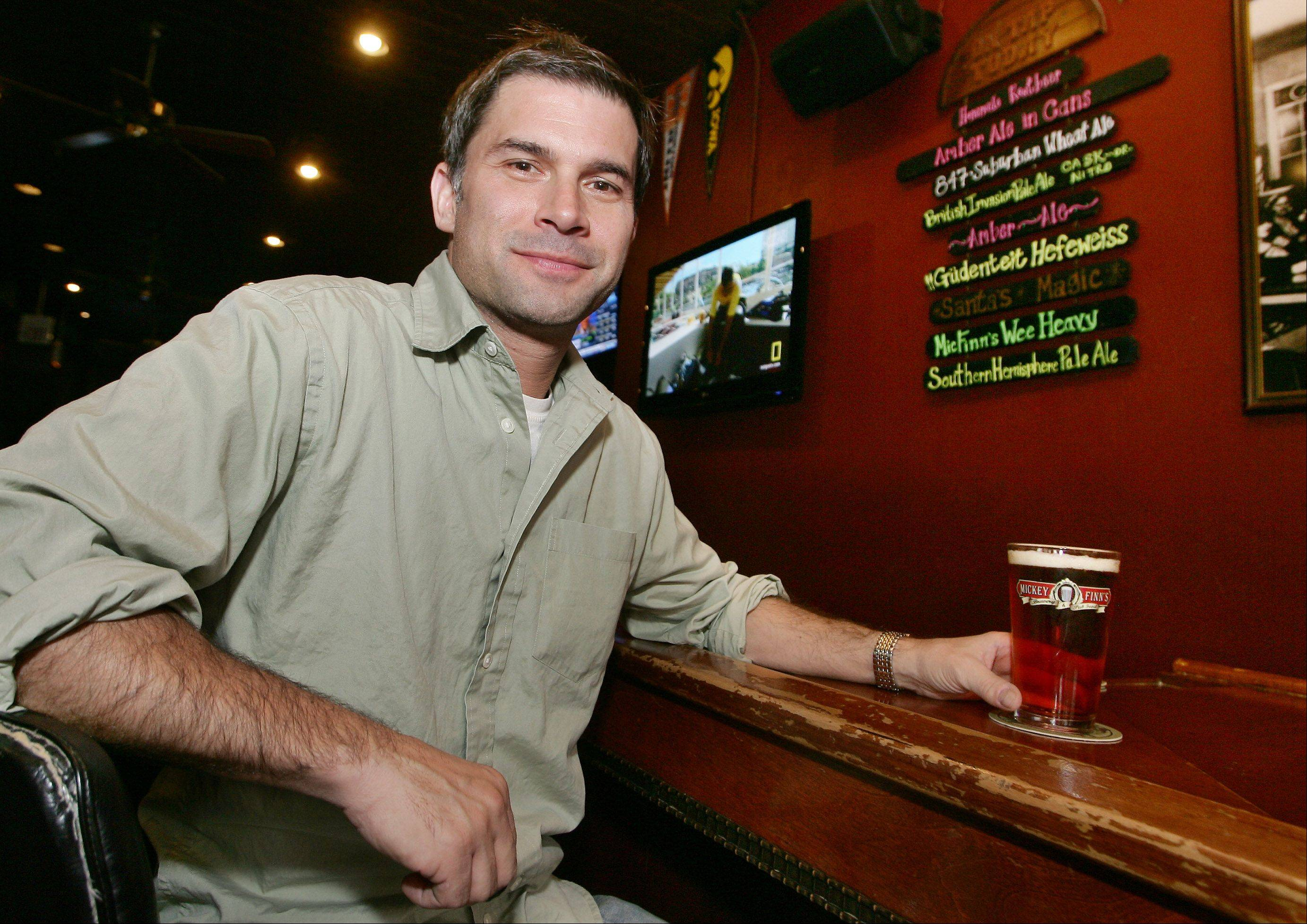 Owner Brian Grano of Mickey Finn's says clever names help entice beer lovers to try a certain brew.