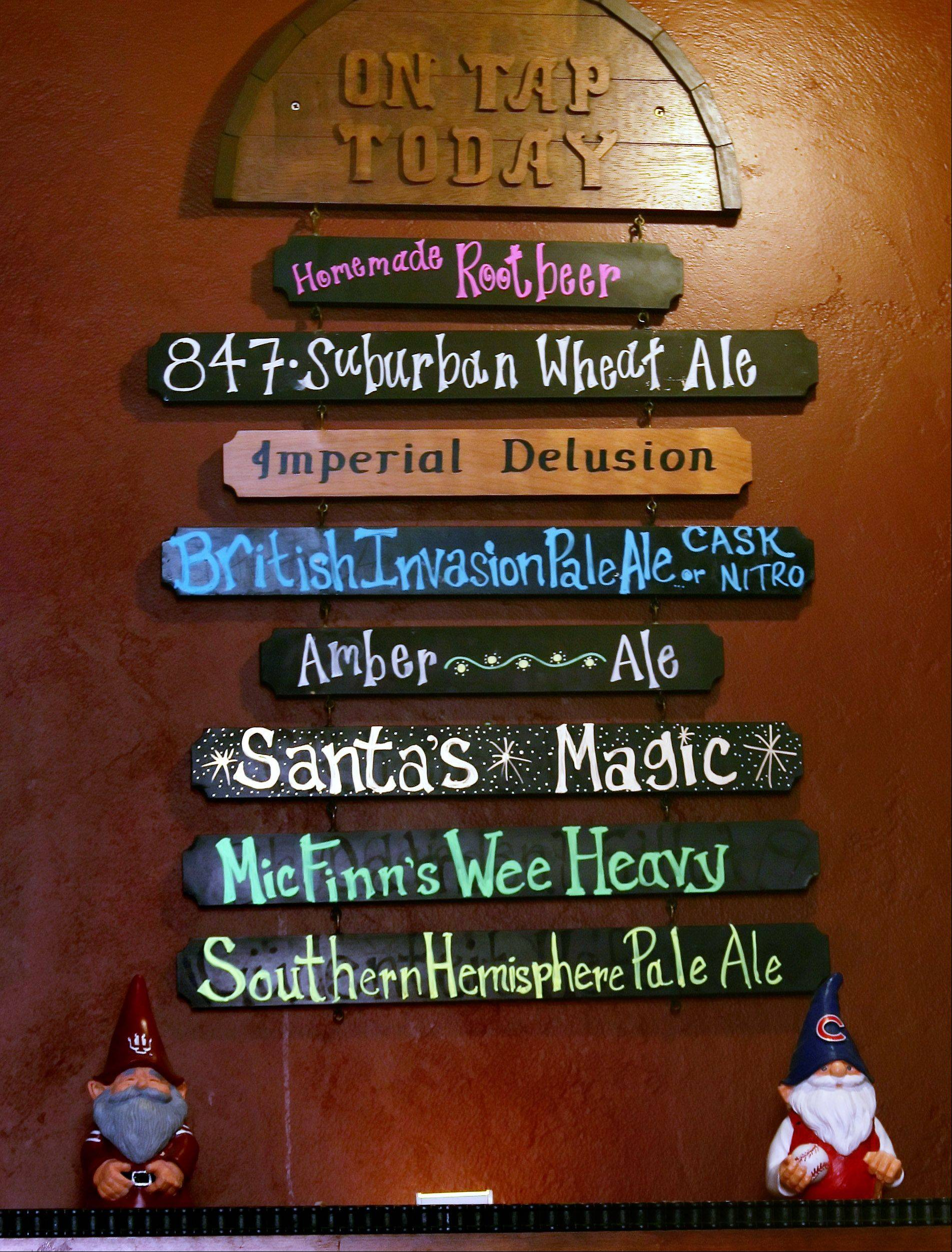 A name such as Santa's Magic or Wee Heavy might entice someone to try a beer brewed by Mickey Finn's in Libertyville. But owner Brian Grano says taste is why they order it again.