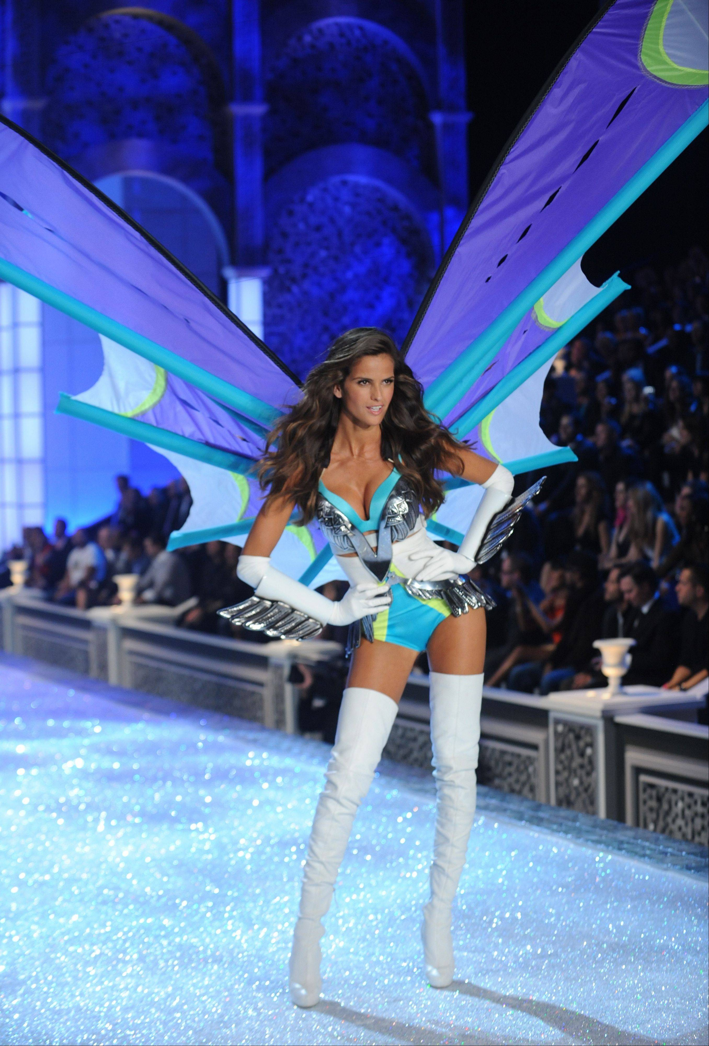 A model walks the runway during the Victoria's Secret fashion show in New York, Wednesday.