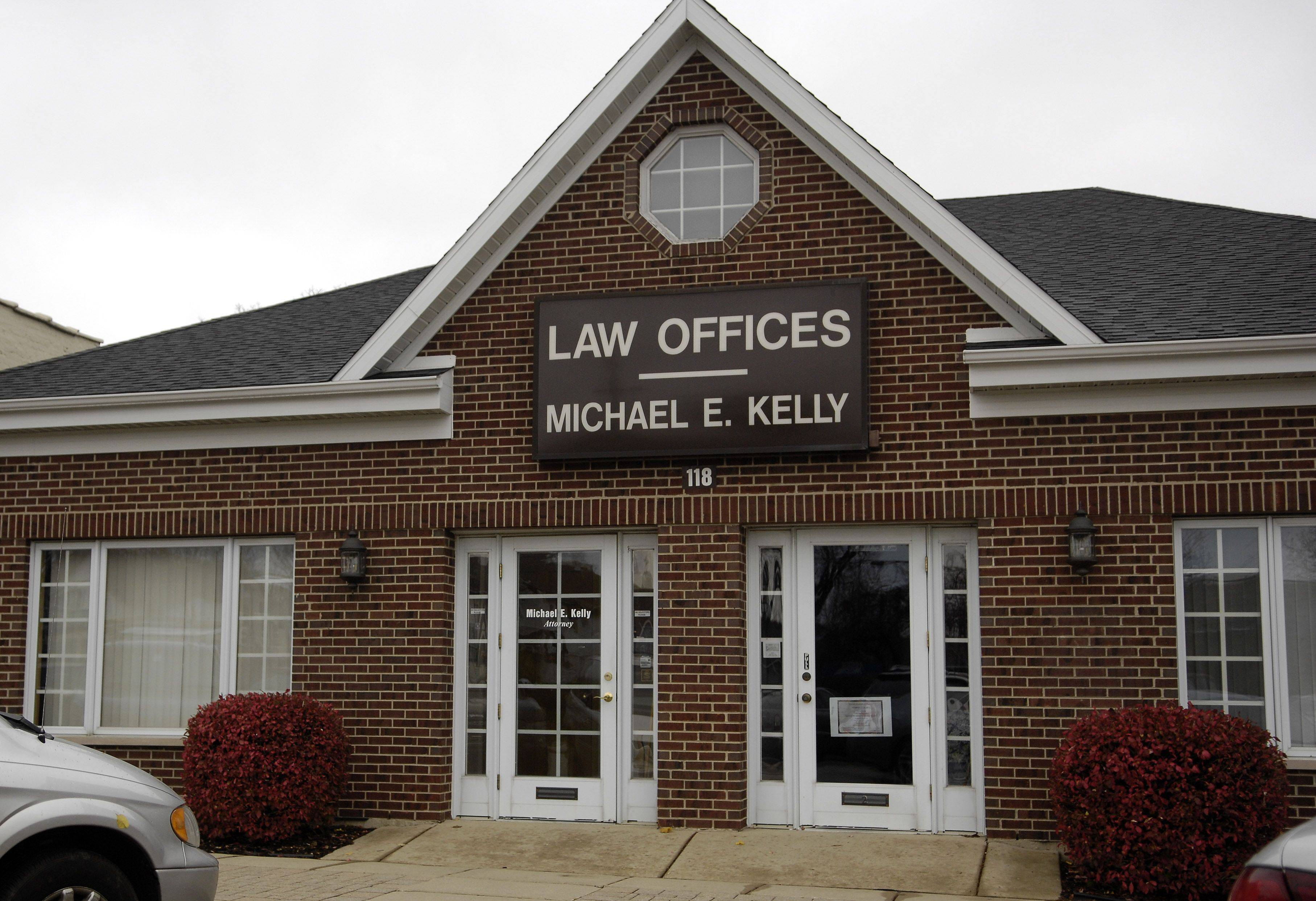 Bartlett Mayor Michael Kelly owns the building that houses his law office.