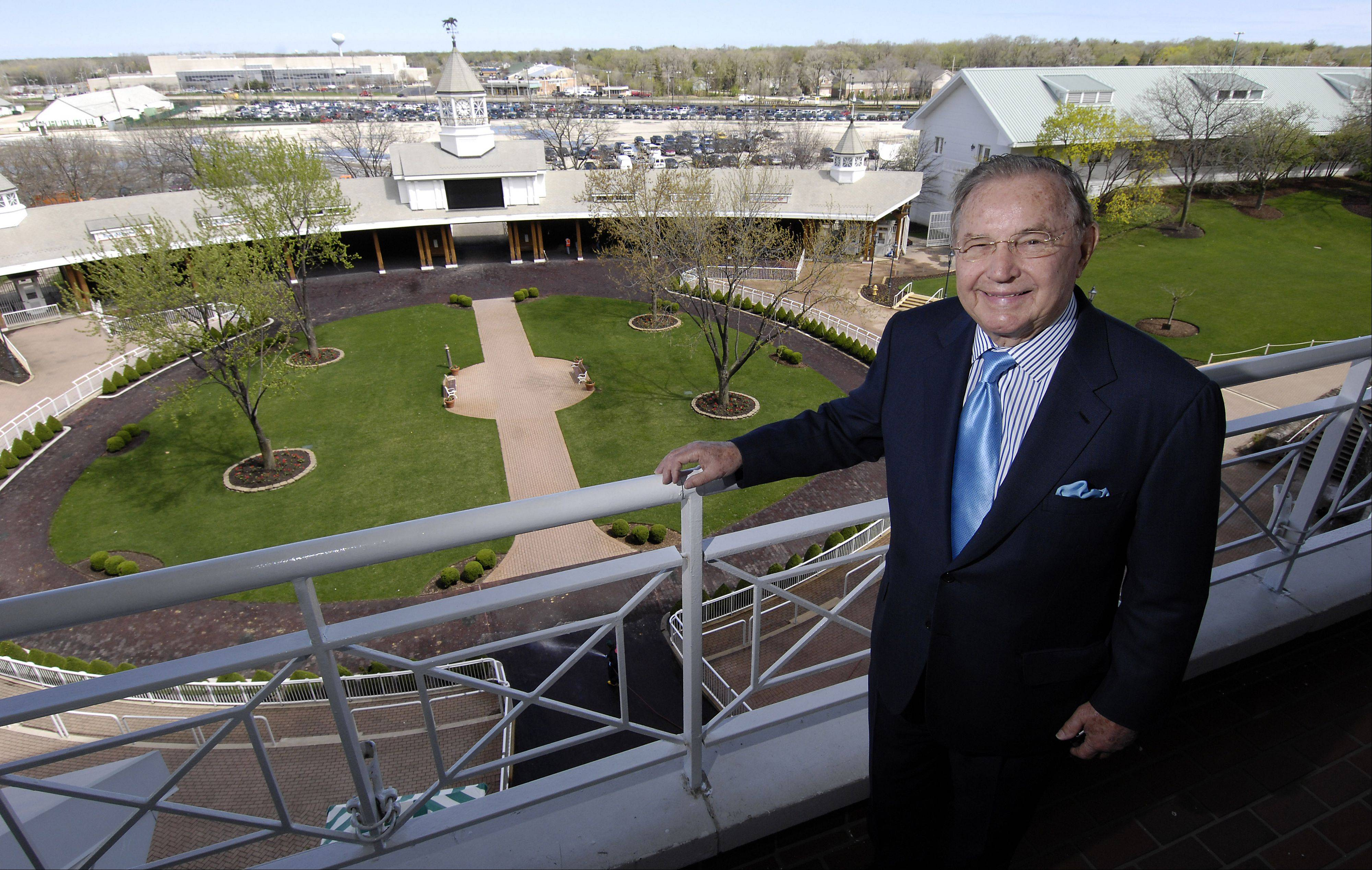 Arlington Park chairman Dick Duchossois has been arguing for slot machines at the racetrack for at least 14 years.
