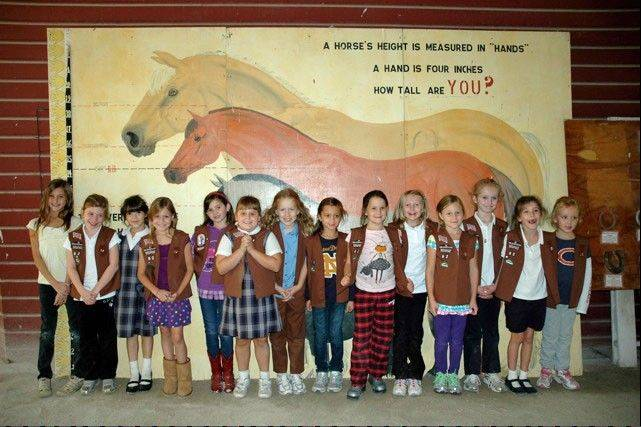 Local Girl Scouts, like St. Joan of Arc Brownie Troop 50062, visit the Danada Equestrian Center in Wheaton as they learn about the environment, appreciation for animals and regional history.