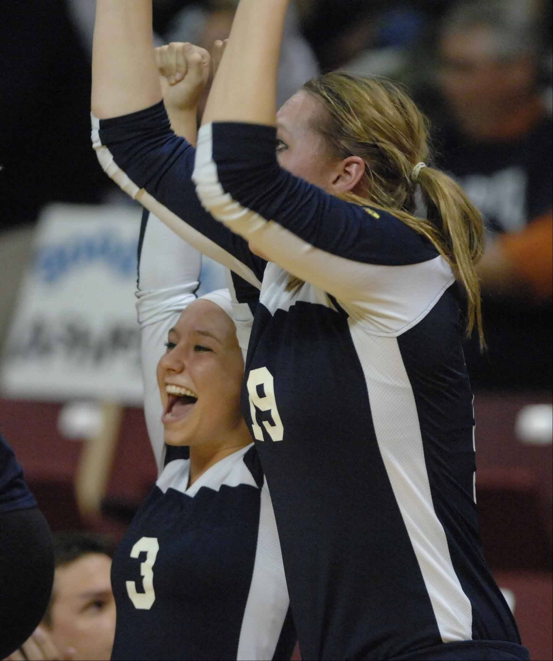 Cary-Grove vs. Marist girls state volleyball 4A semifinal action Friday in Normal.