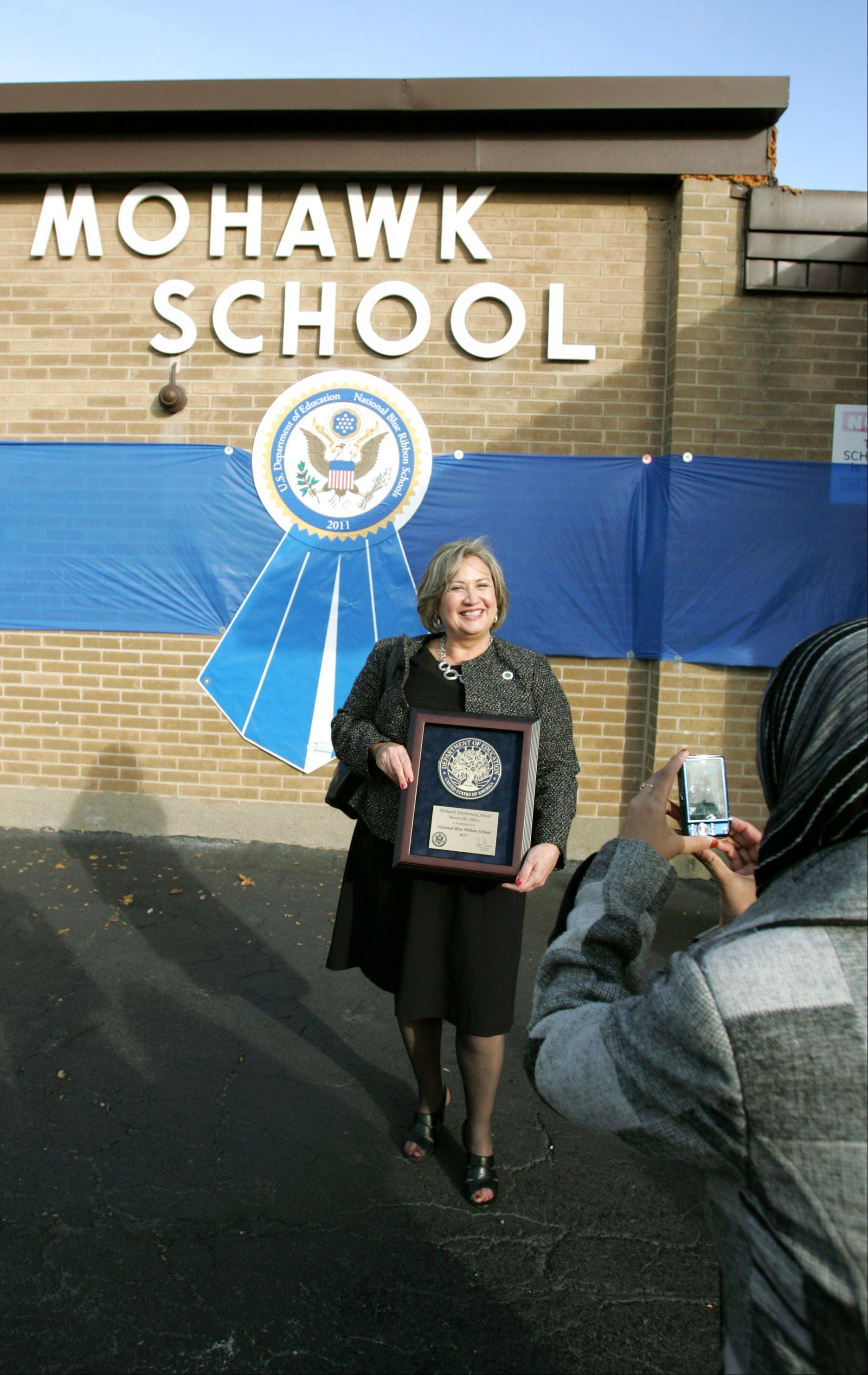 """We're not stopping here,"" Mohawk Elementary School Principal Madelyn Devers said after her school won the 2011 National Blue Ribbon Award."