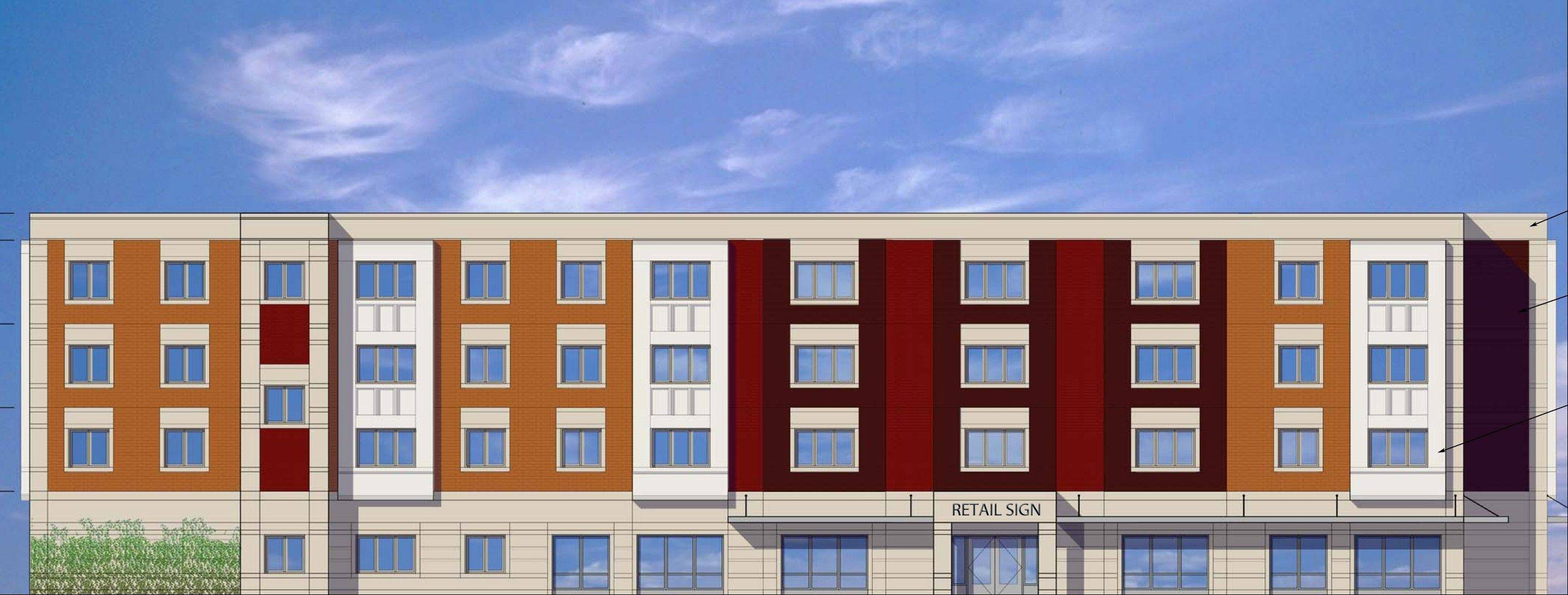 Myers Place, planned for a vacant site bear Busse Road and Dempster Street, will house 18 studio apartments and 21 one-bedroom apartments with a social service office and other commercial or retail tenants on first floor. Mount Prospect officials gave the project final approval this week.