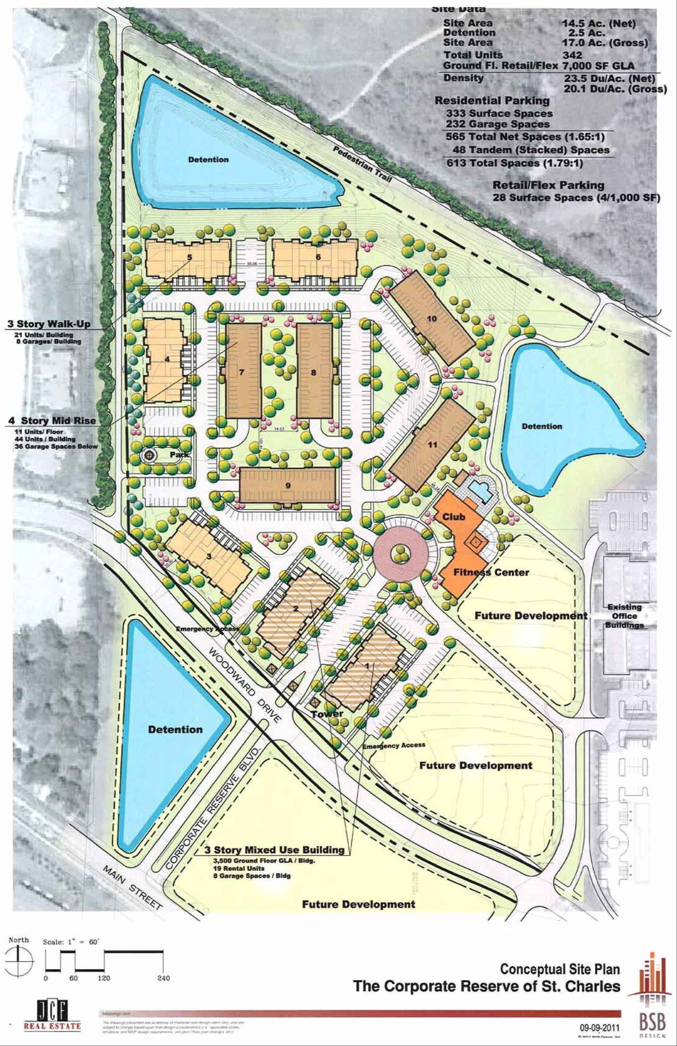A conceptual drawing shows the proposed layout of the subdivision.