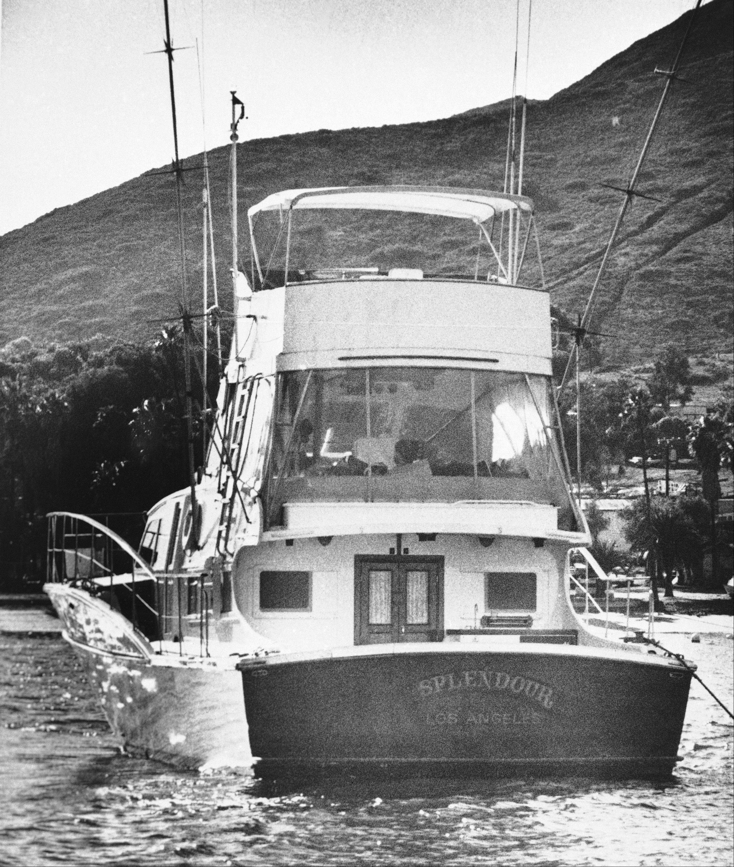 "The 55-foot yacht ""Splendour,"" belonging to actor Robert Wagner and his wife, actress Natalie Wood, sits in the waters off Catalina Island in Santa Catalina, Calif., near the site where Harbor Patrol personnel and lifeguards discovered the body of Wood, an apparent drowning victim, Nov. 29, 1981. Los Angeles sheriff's homicide detectives are taking another look at Wood's 1981 drowning death based on new information, officials announced Thursday, Nov. 17, 2011."