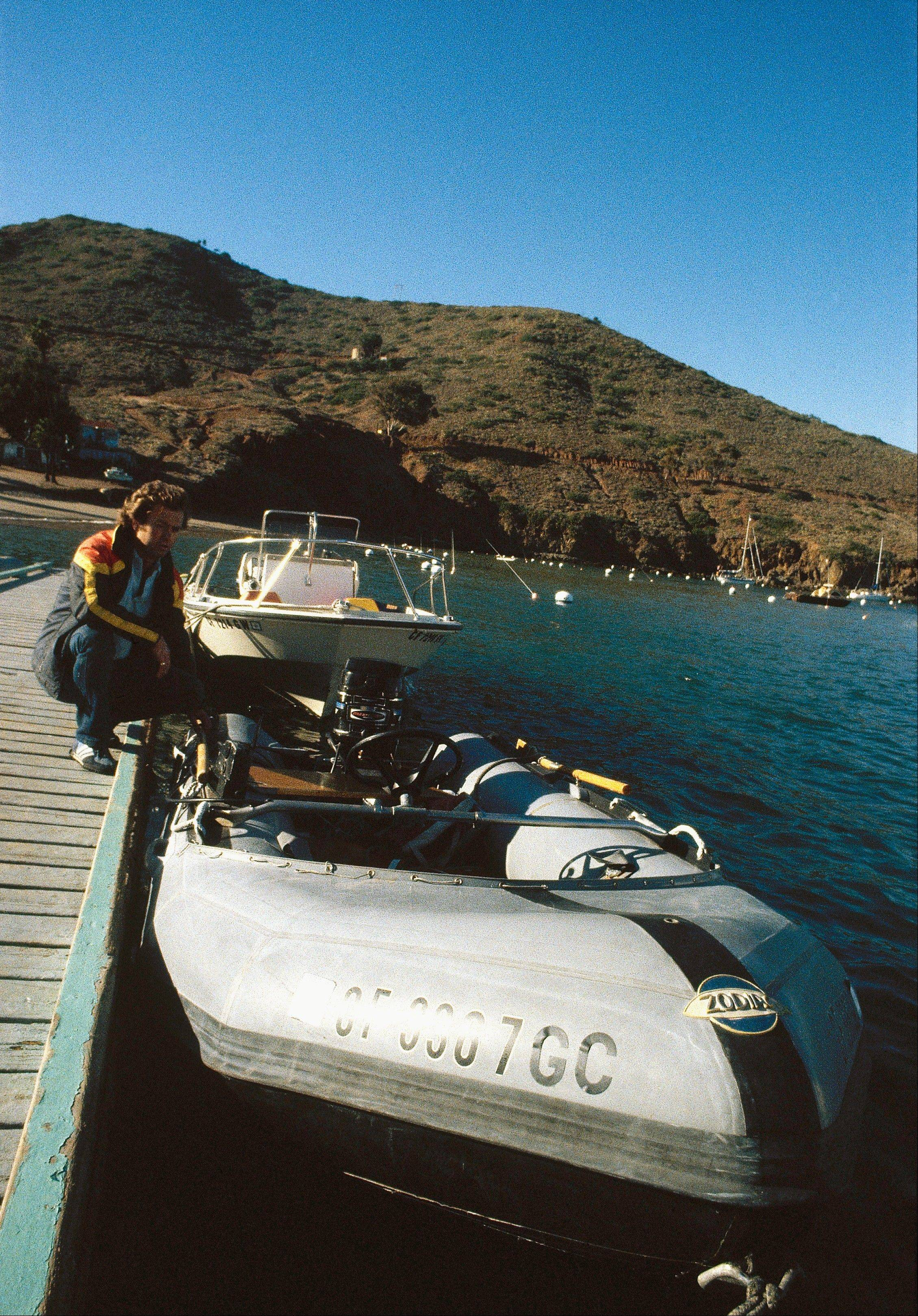 "In a Nov. 28, 1981 file photo, ""Prince Valiant,"" the inflatable dinghy used by 34-year-old actress Natalie Wood on the yacht Splendour, sits pierside in Catalina Island, Calif. Yacht captain Dennis Davern said on national TV Friday, Nov. 18, 2011 that he lied to investigators about Natalie Wood's mysterious death 30 years ago and blames the actress' husband at the time, Robert Wagner, for her drowning in the ocean off Southern California. (AP Photo/Harrington, File)"