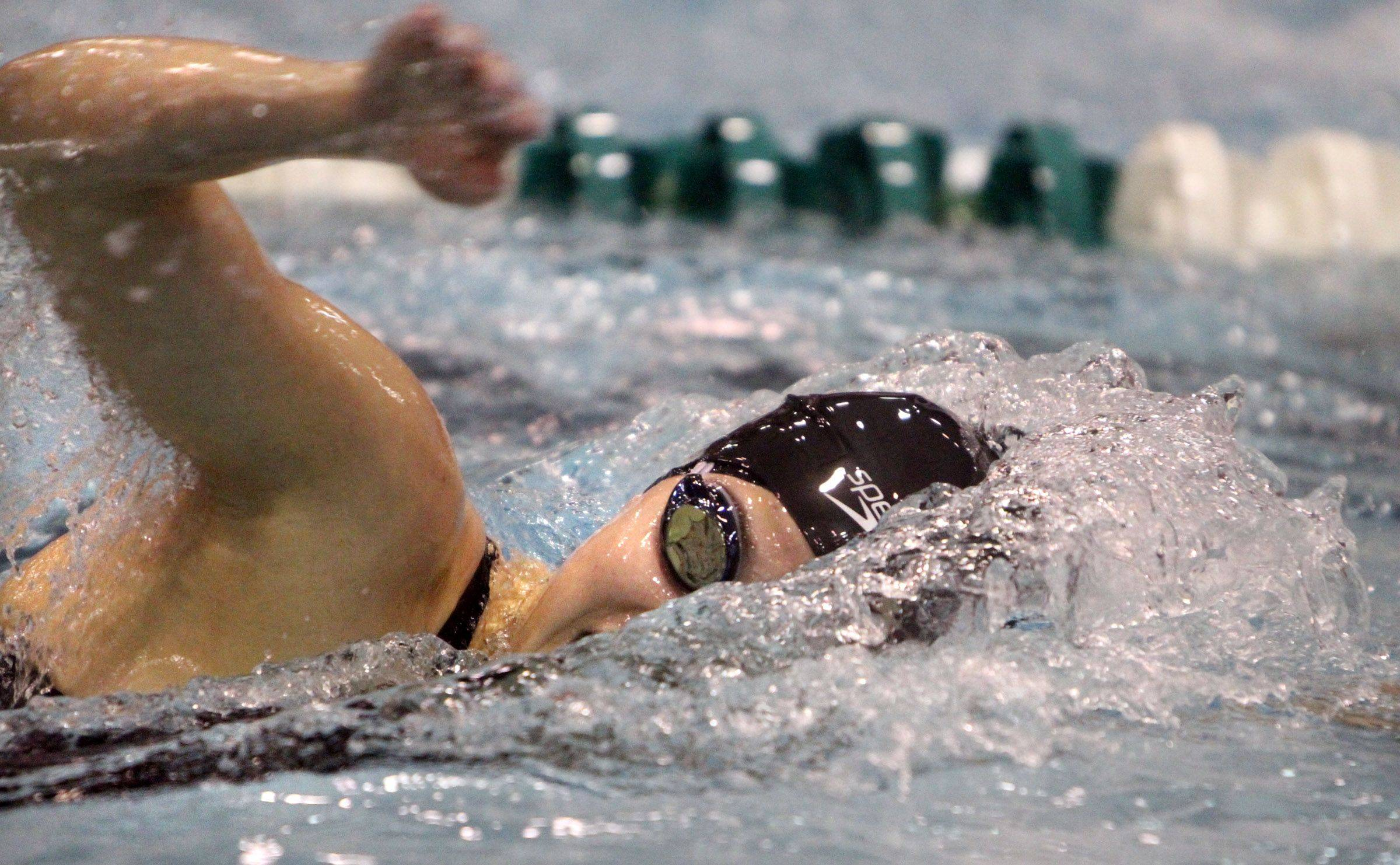 Libertyville's Morgan Dickson placed sixth in the 500-yard freestyle at the IHSA state championships in Winnetka on Saturday, November 19th.