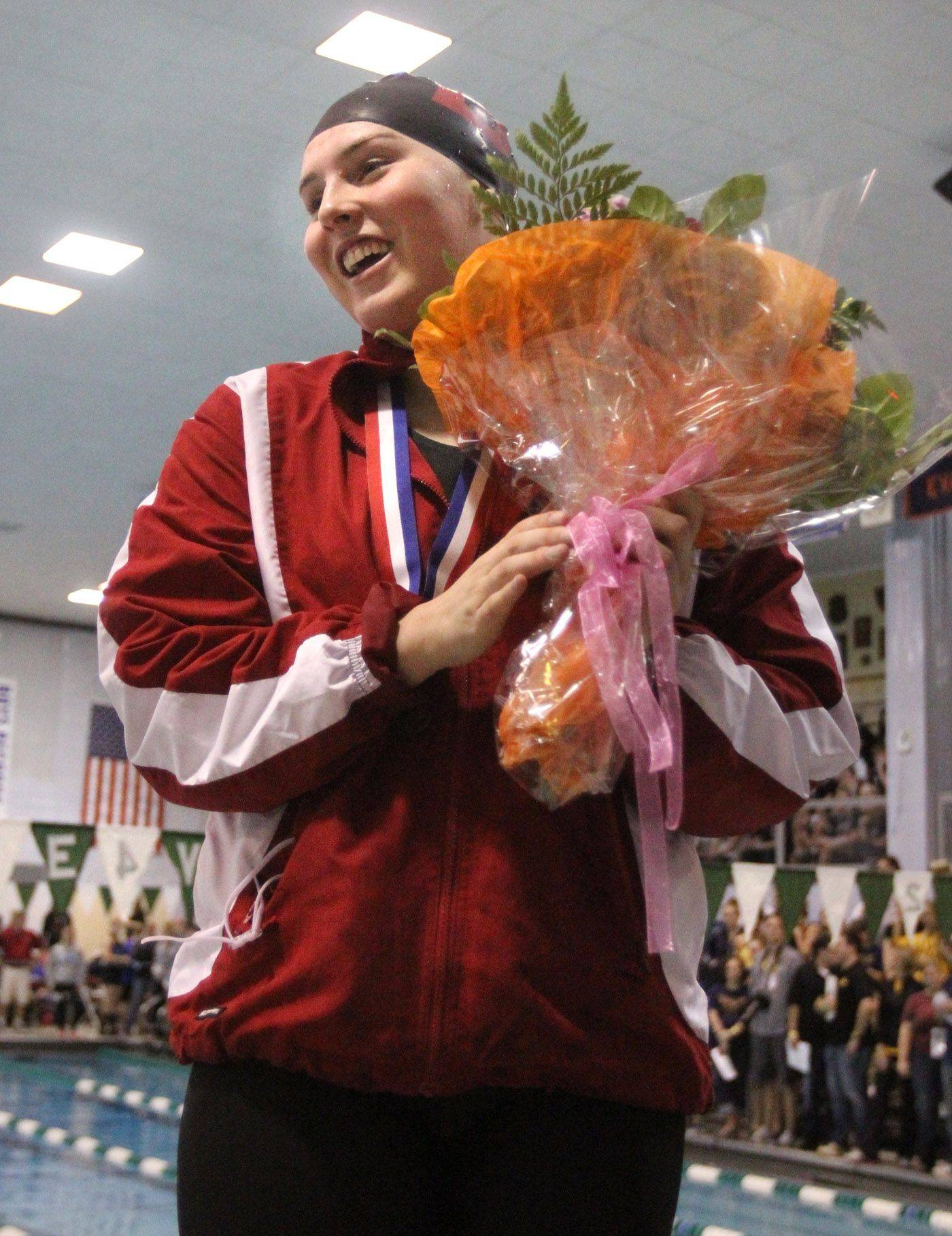 Barrington's Erika Elliott finished eleventh in the 100-yard freestyle at IHSA state championships in Winnetka on Saturday, November 19th.