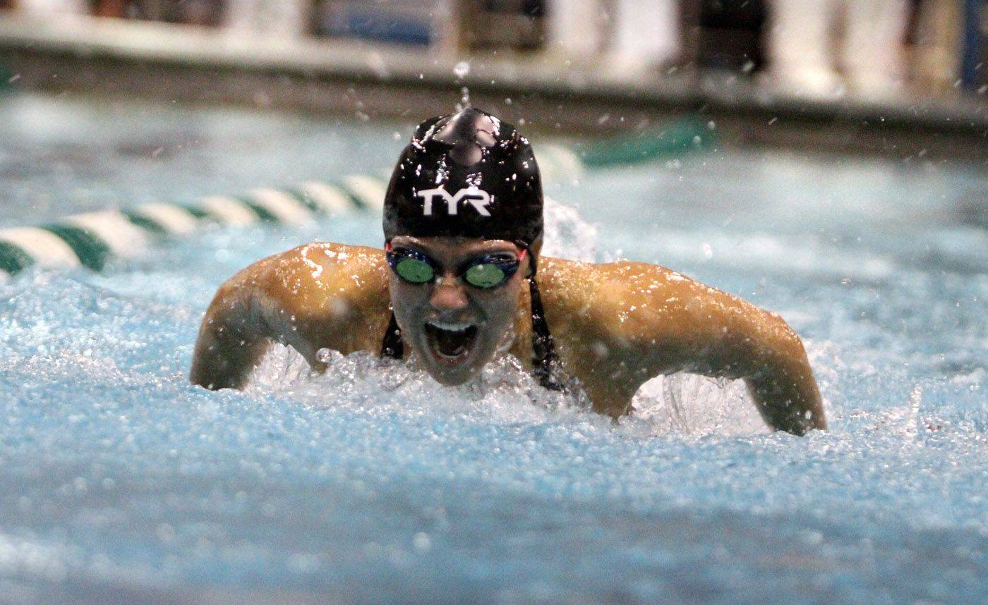 Neuqua Valley's Gia Dalesandro placed third in the 100-yard butterfly at IHSA state championships in Winnetka on Saturday, November 19th.