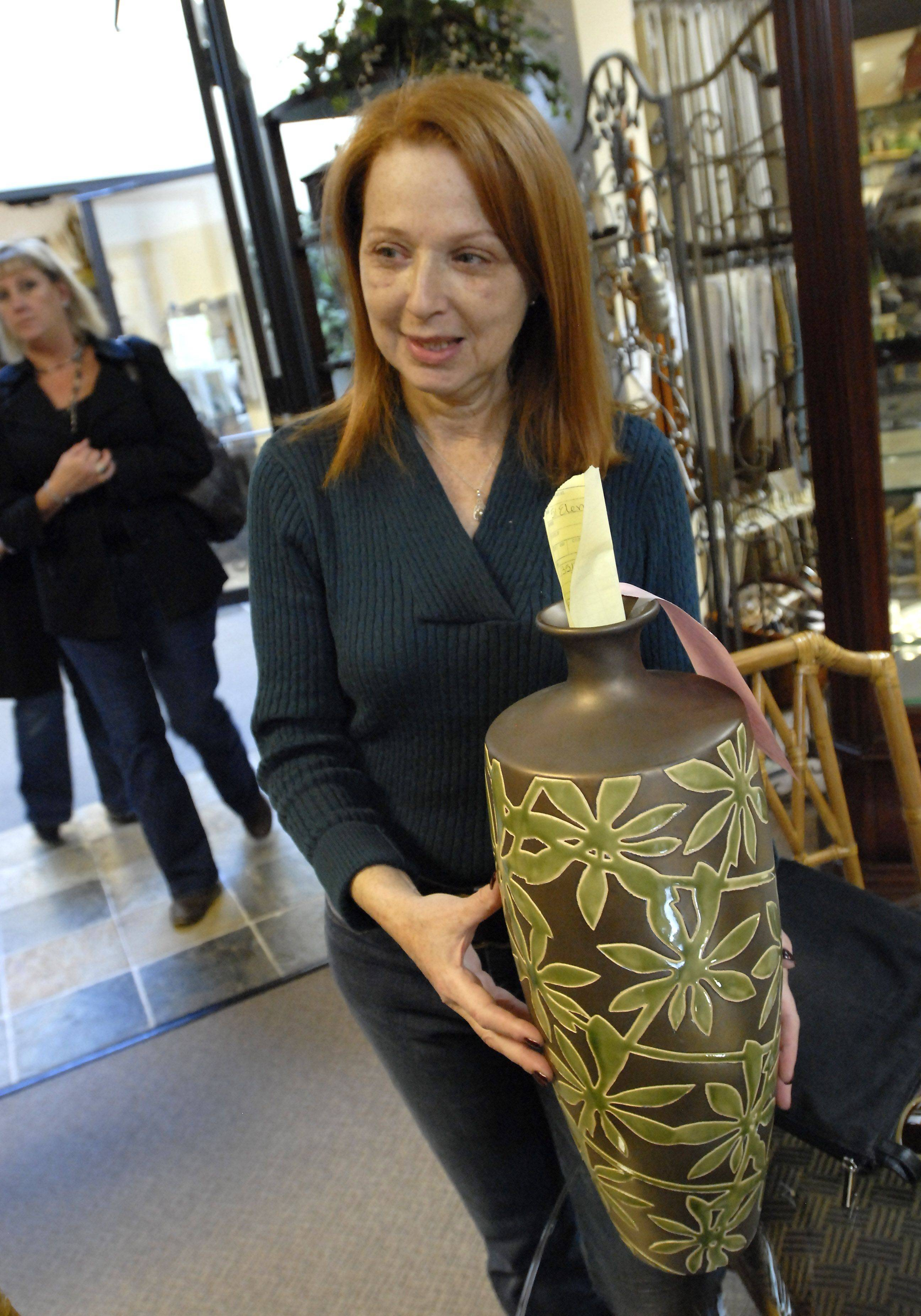 Designer Eva Landesman of 51 Elements in Buffalo Grove was thrilled with this vase she found for a client at the Chicago Design Team shop.