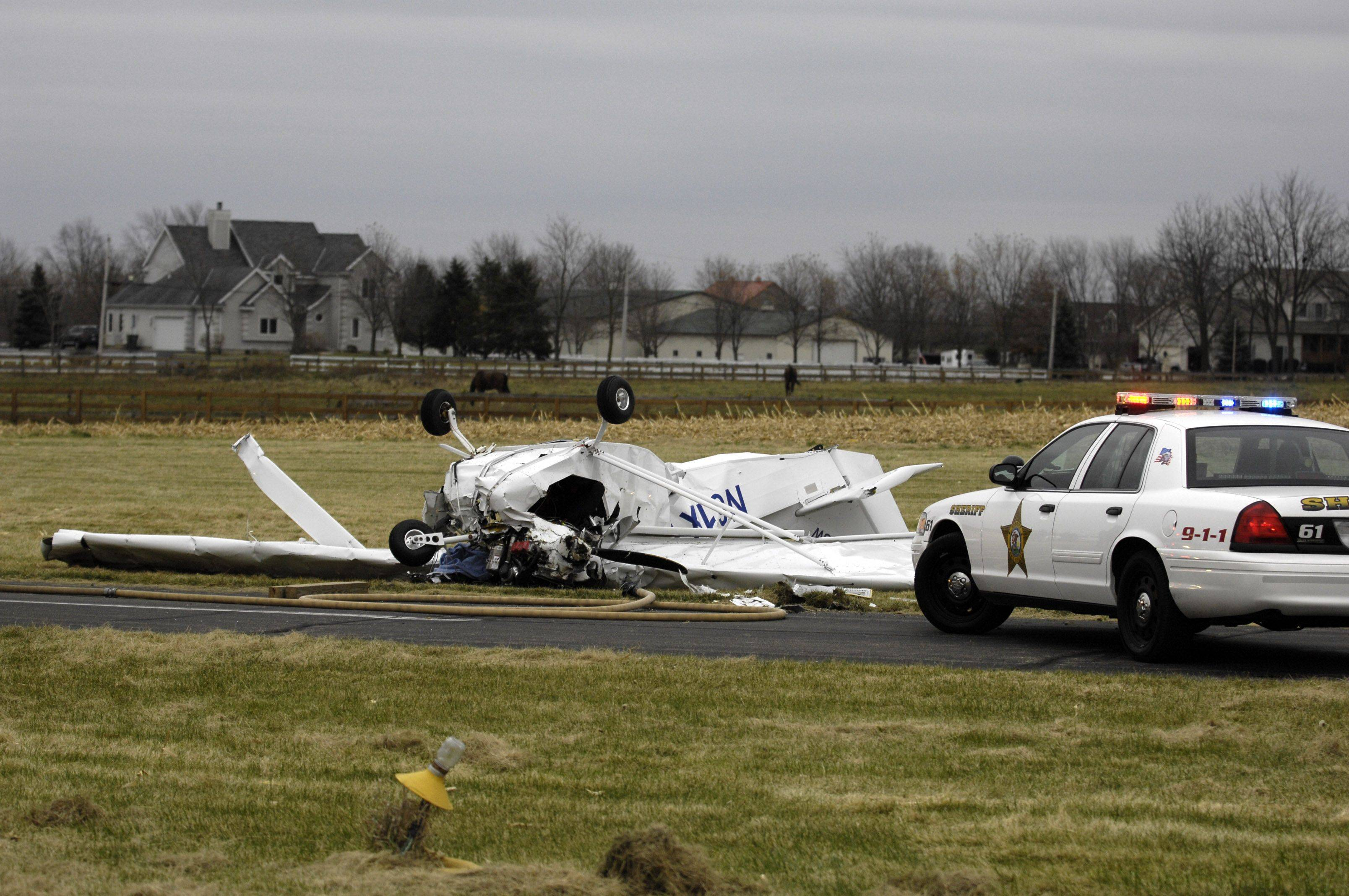 A 69-year-old Hampshire man died Sunday when the small, single-engine airplane he was piloting crashed upon takeoff from an airstrip west of Elgin. Frank Kehoe was described by friends who gathered at the scene Sunday afternoon as an experienced pilot whose passion was planes.