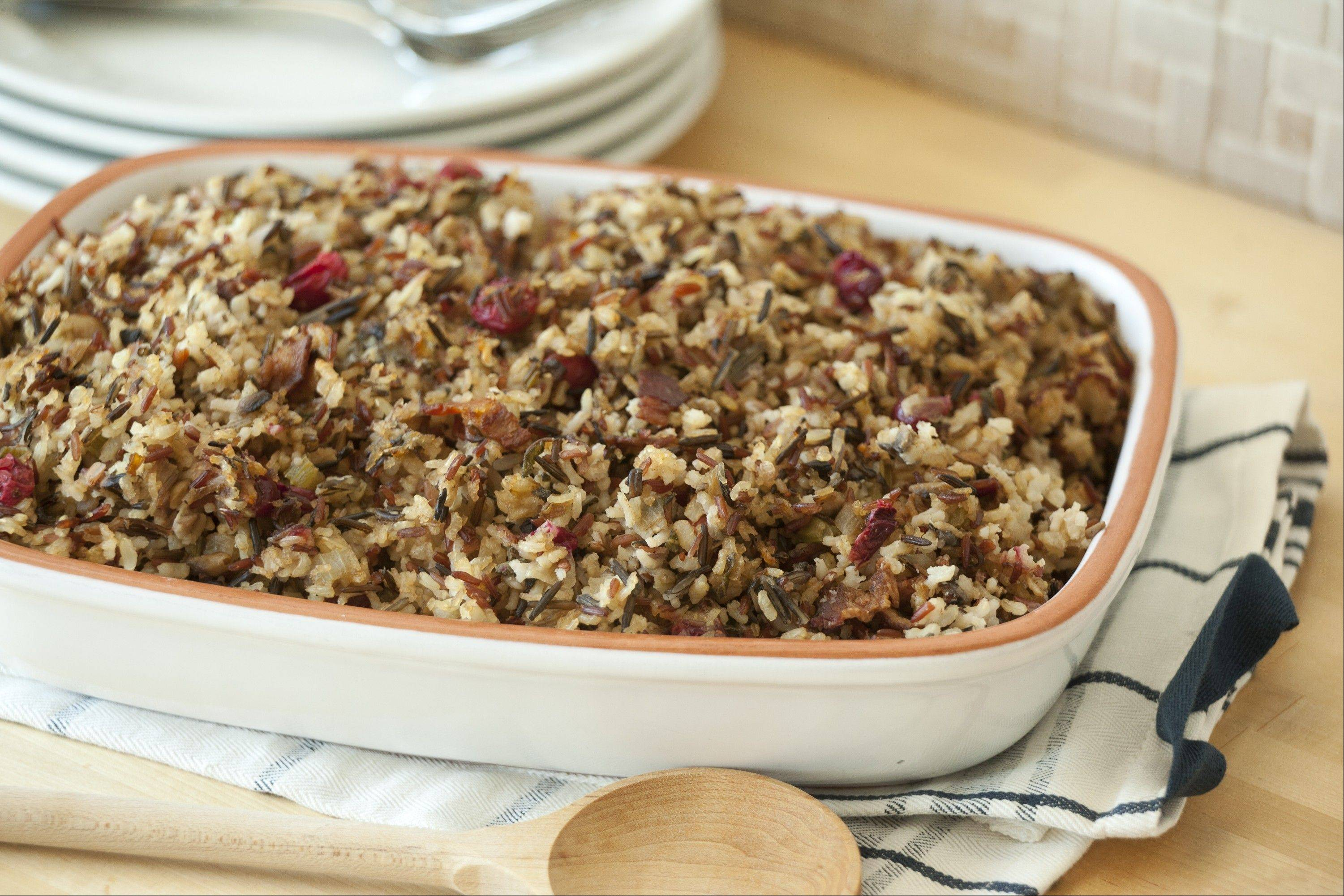 Bacon, Cranberry and Mushroom Rice Stuffing