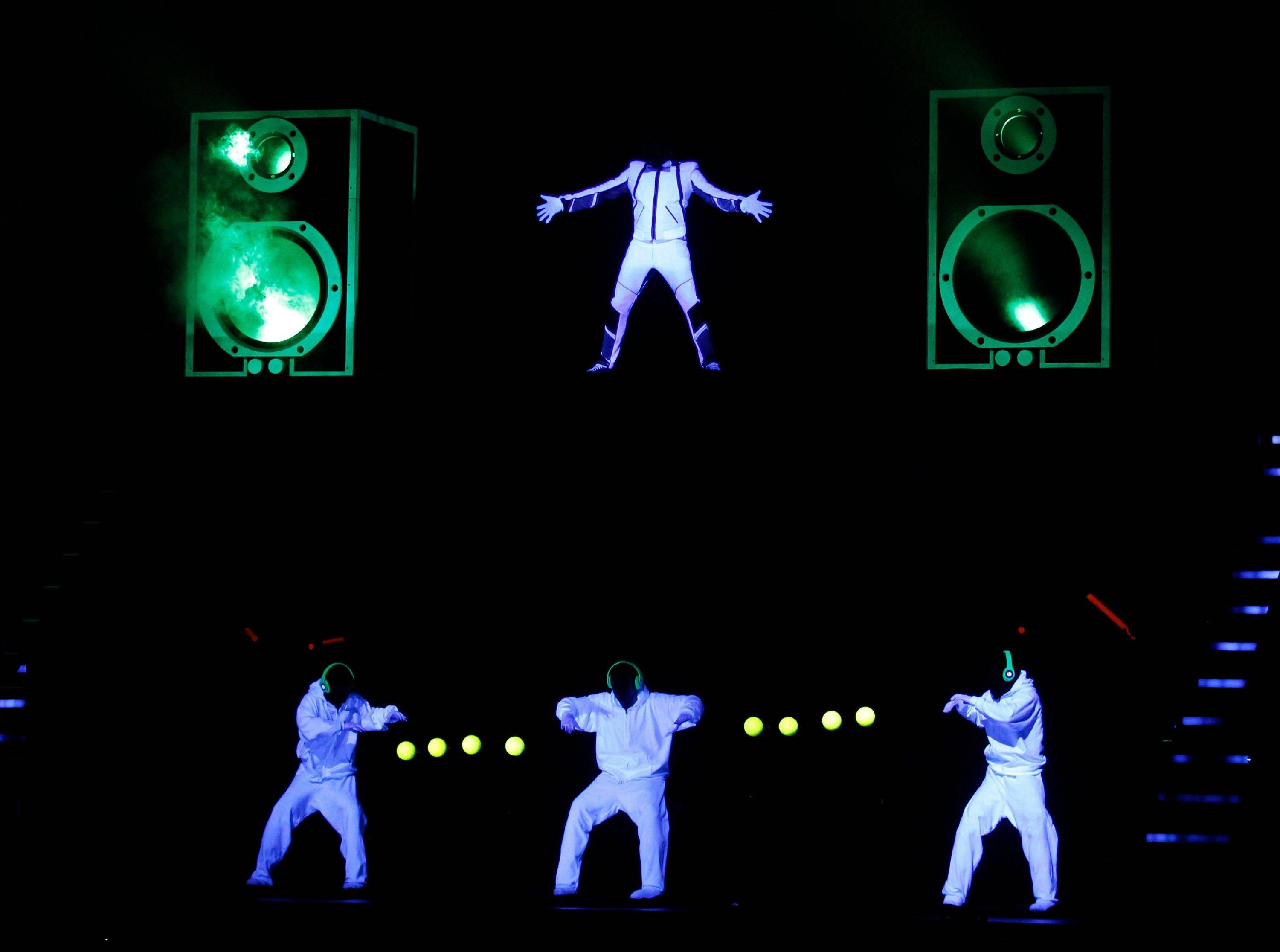 Will.I.Am performs at the 39th Annual American Music Awards on Sunday, Nov. 20, 2011 in Los Angeles.
