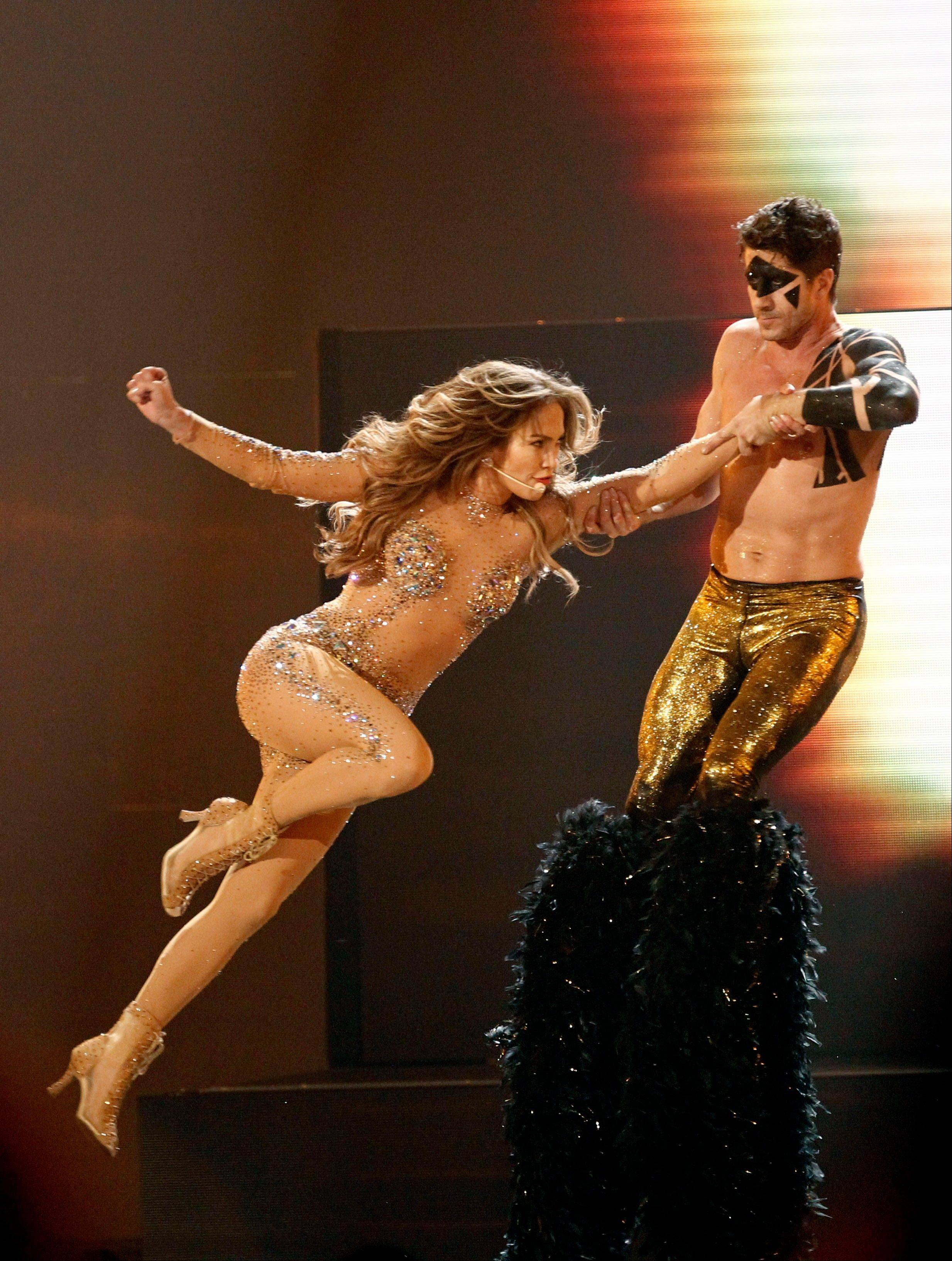Jennifer Lopez performs at the 39th Annual American Music Awards on Sunday, Nov. 20, 2011 in Los Angeles.