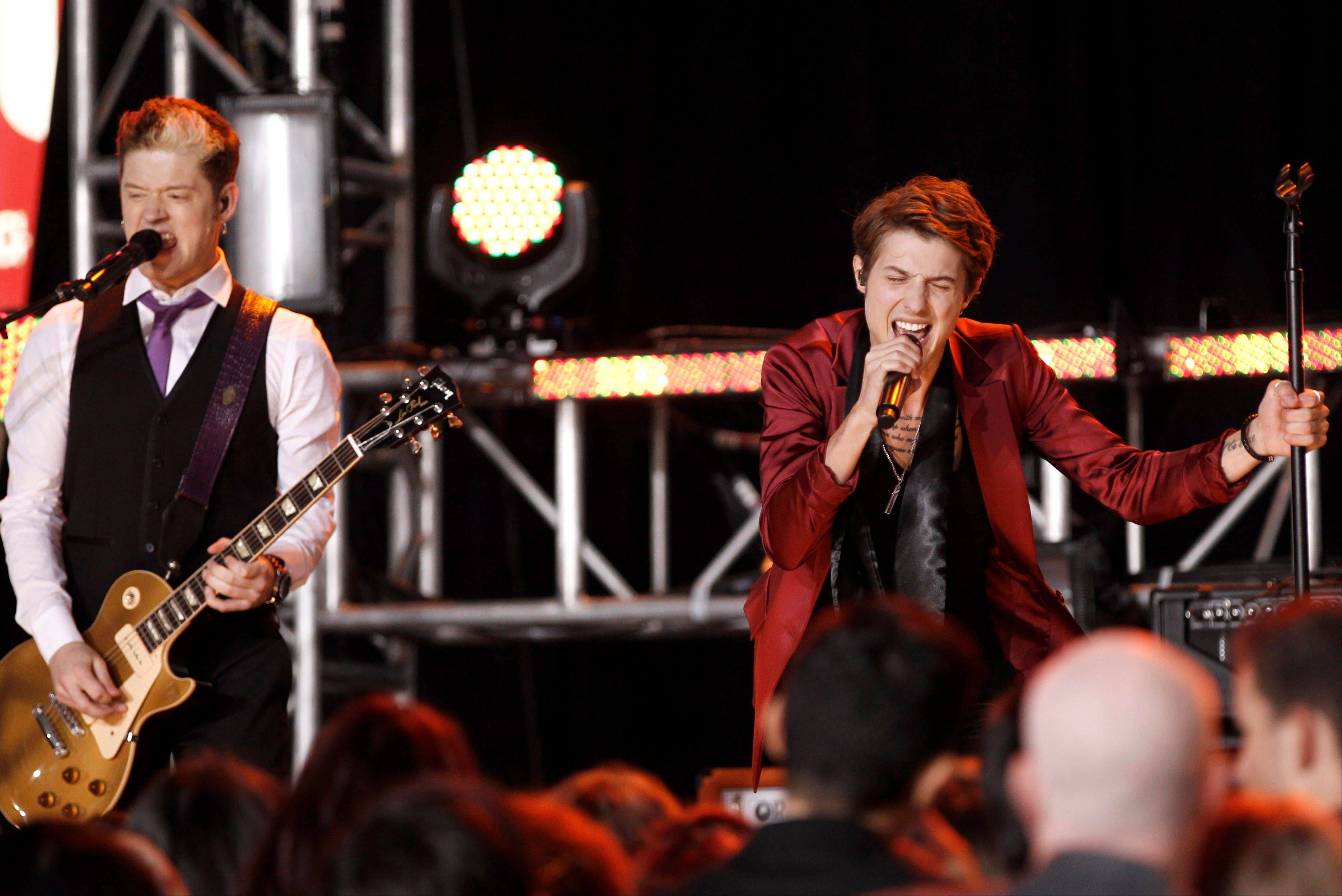 Hot Chelle Rae performs at the 39th Annual American Music Awards on Sunday, Nov. 20, 2011 in Los Angeles.