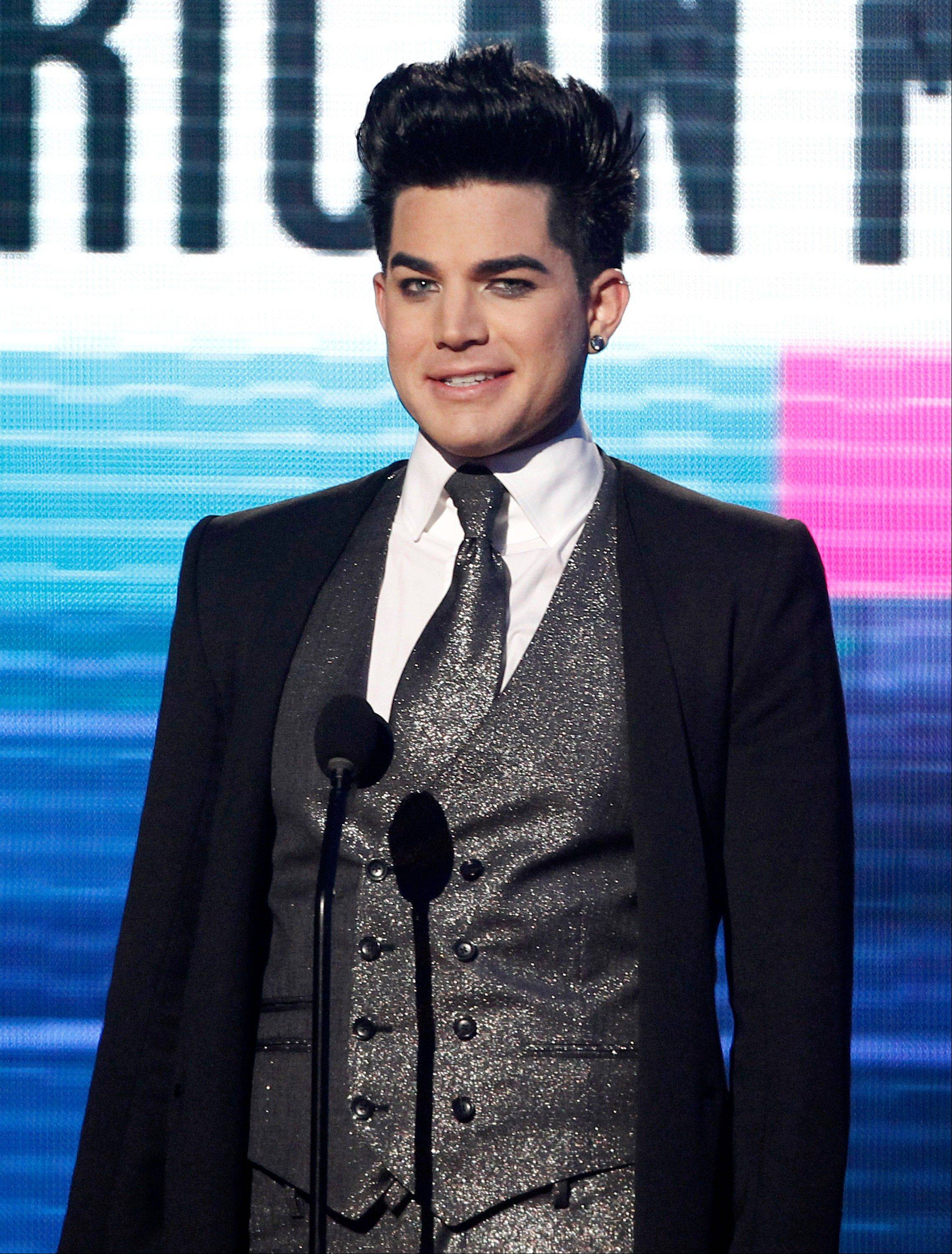 Adam Lambert is seen onstage at the 39th Annual American Music Awards on Sunday, Nov. 20, 2011 in Los Angeles.