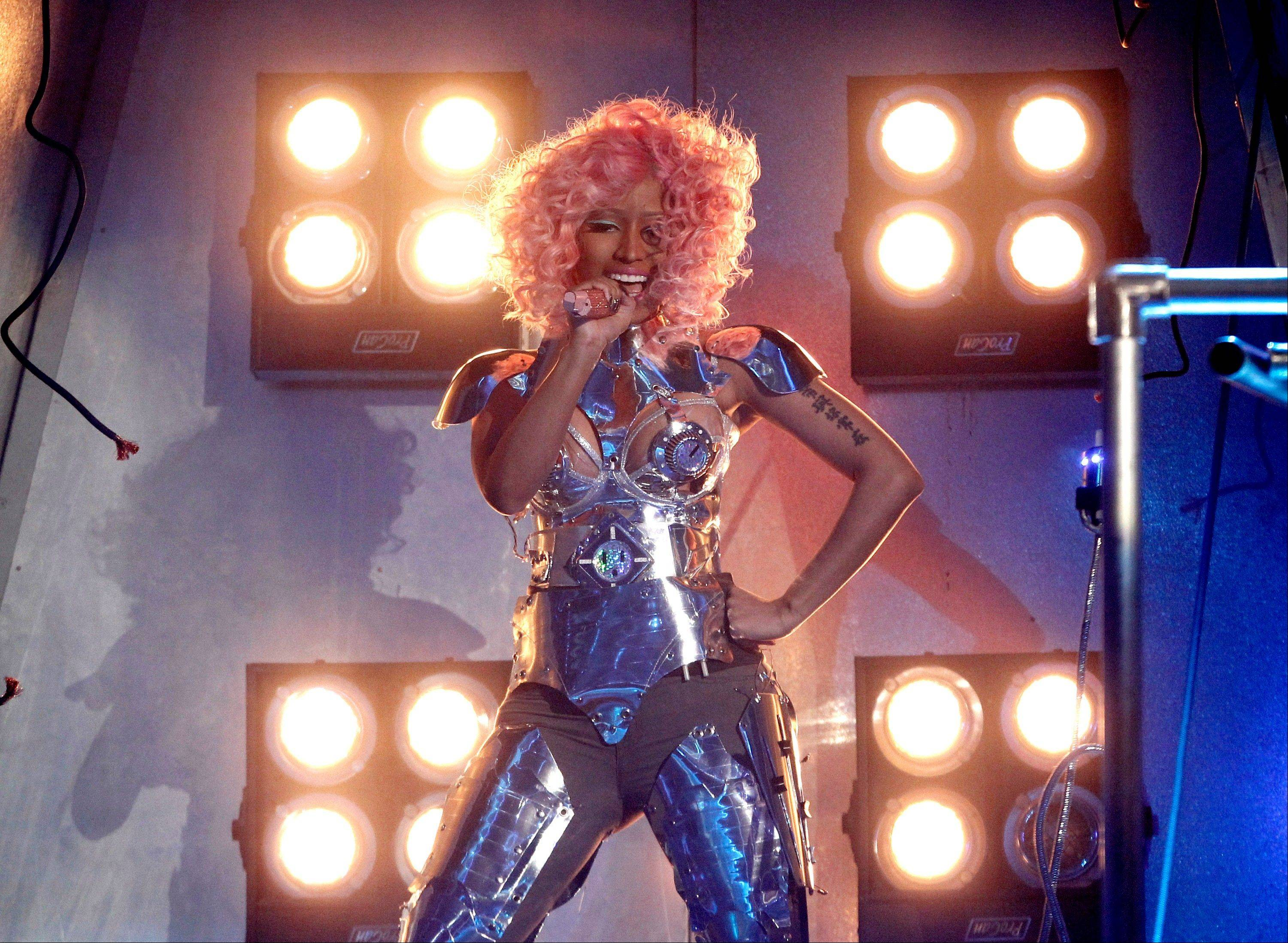 Nicki Minaj performs at the 39th Annual American Music Awards on Sunday, Nov. 20, 2011 in Los Angeles.